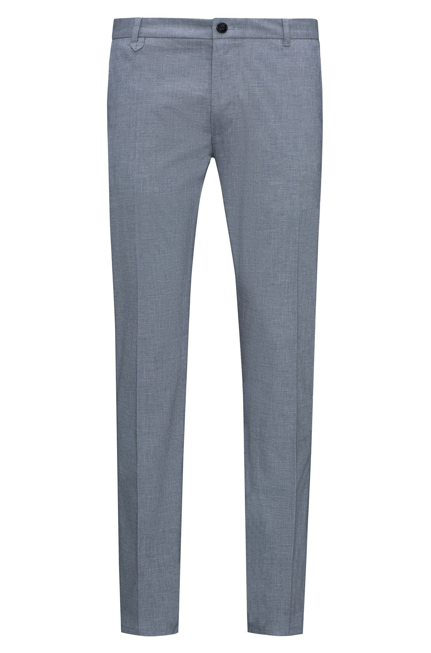 Extra-slim-fit trousers in micro-structure stretch cotton