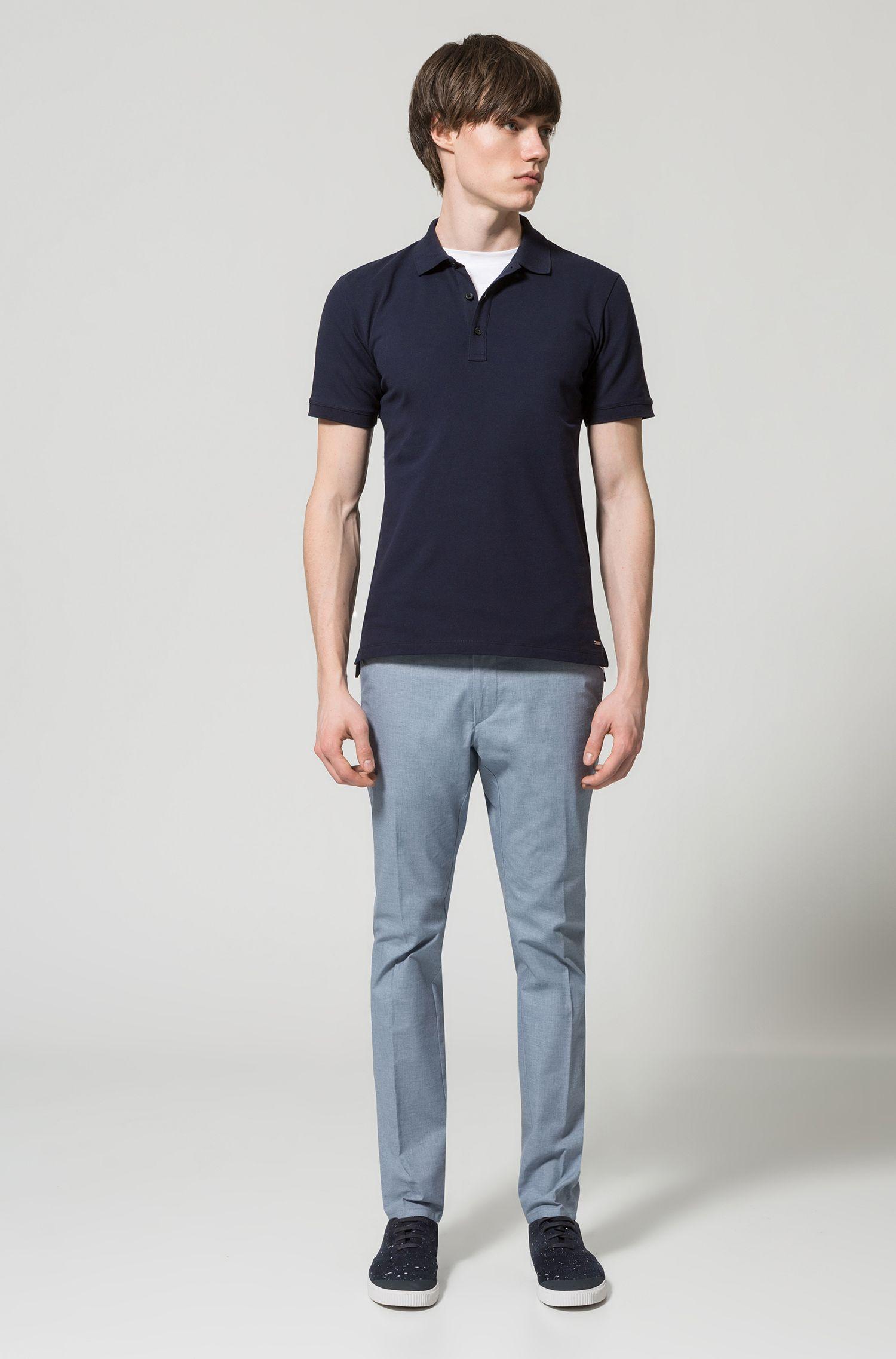 Pantalon Extra Slim Fit en coton stretch micro-structuré
