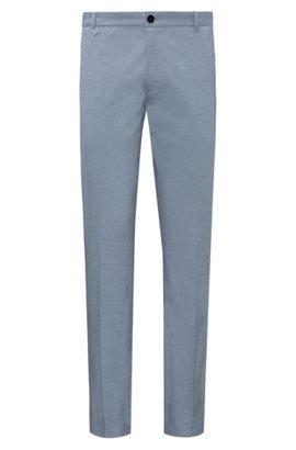 HUGO BOSS Pantalon Slim Fit teint, en coton avec une touche de lin