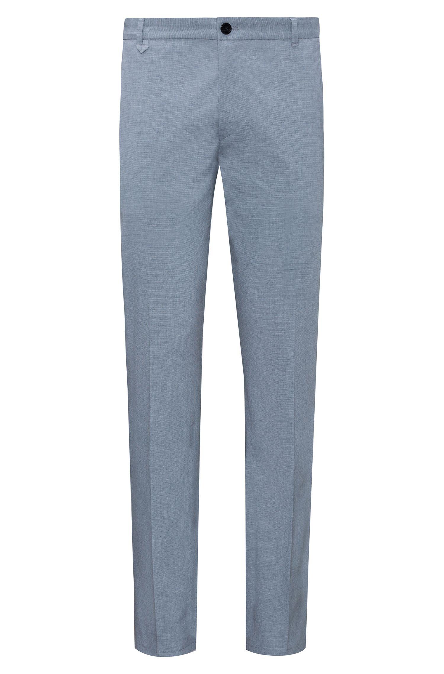 Pantalones extra slim fit en algodón elástico con microestructura