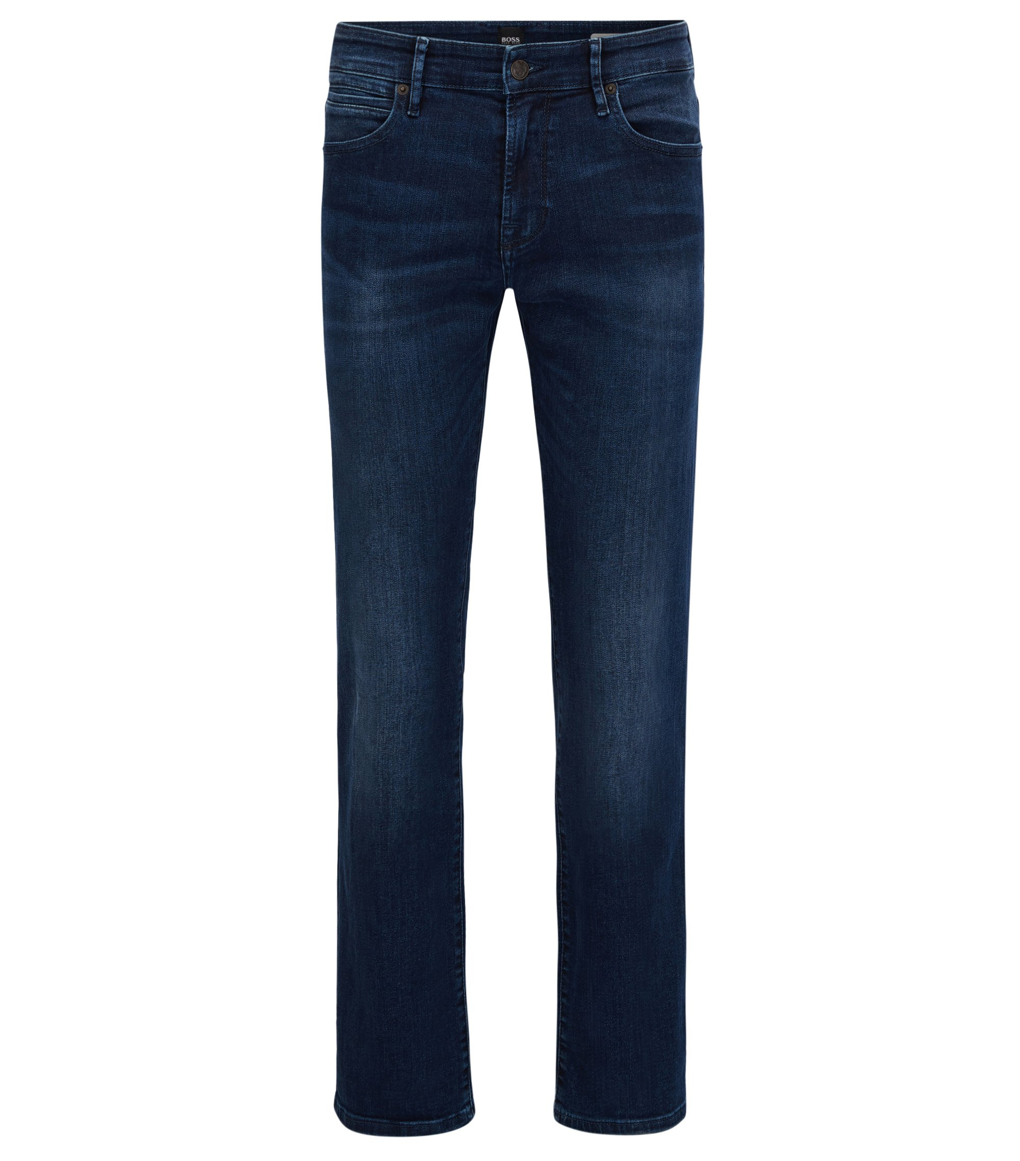Regular-Fit Jeans aus Super-Stretch-Denim, Dunkelblau