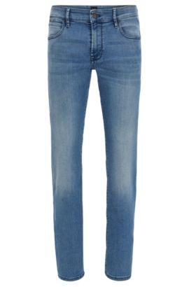 Regular-fit jeans van super-stretchdenim, Turkoois