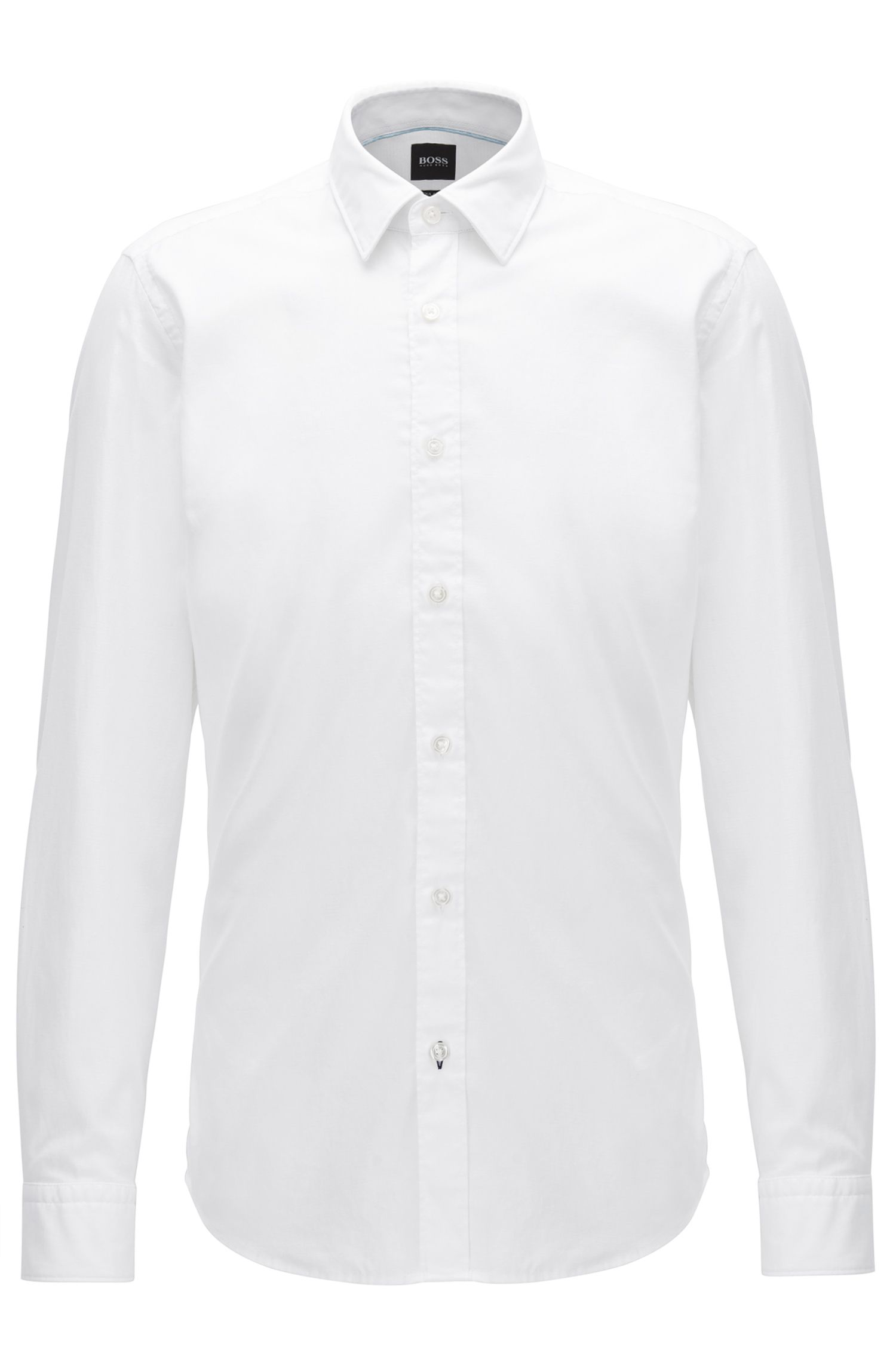 Regular-fit dobby shirt in a cotton blend