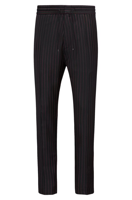 Pinstripe virgin wool trousers in a tapered fit HUGO BOSS bAMufzqH