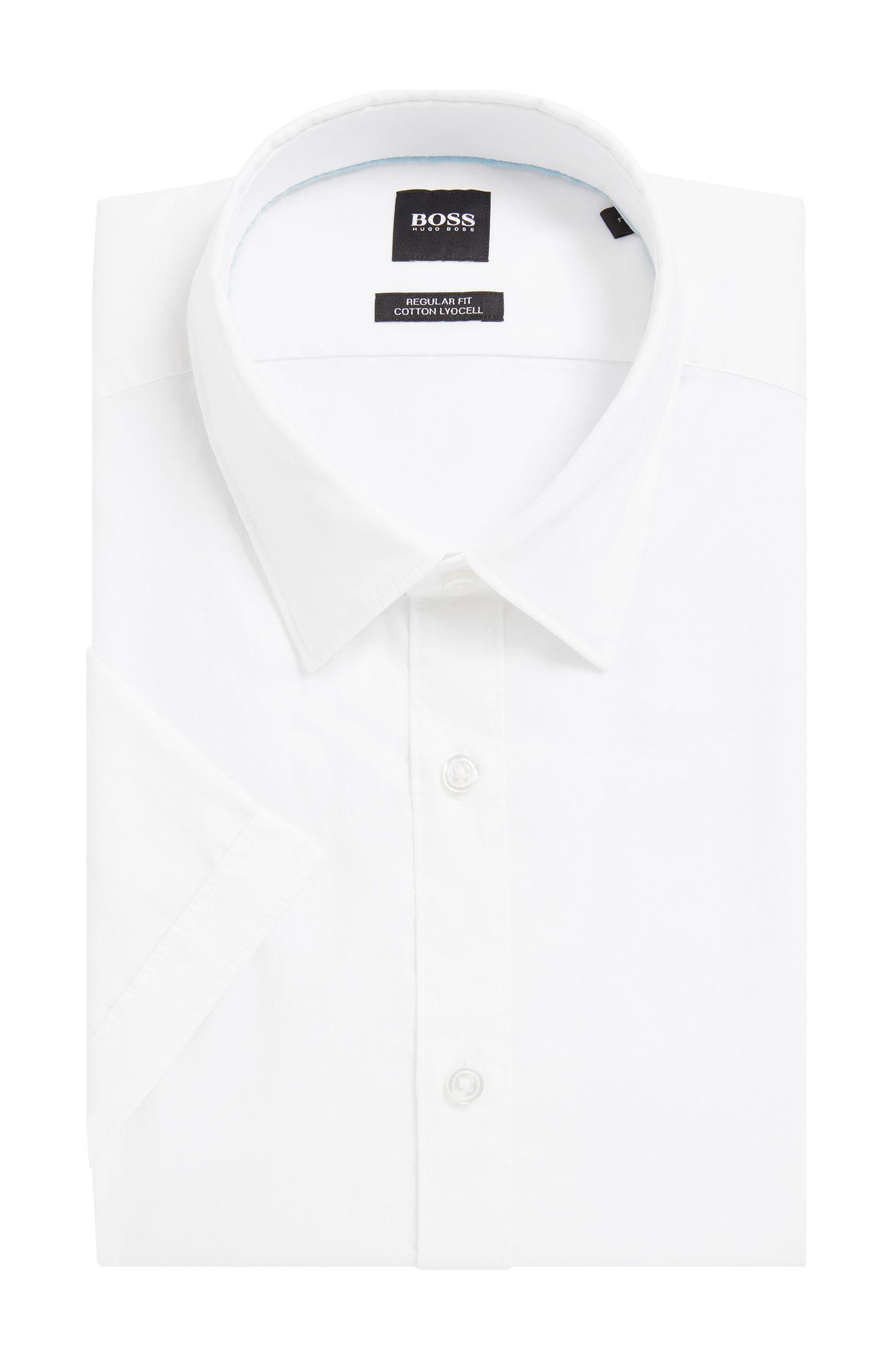 Chemise à manches courtes Regular Fit, en coton mélangé