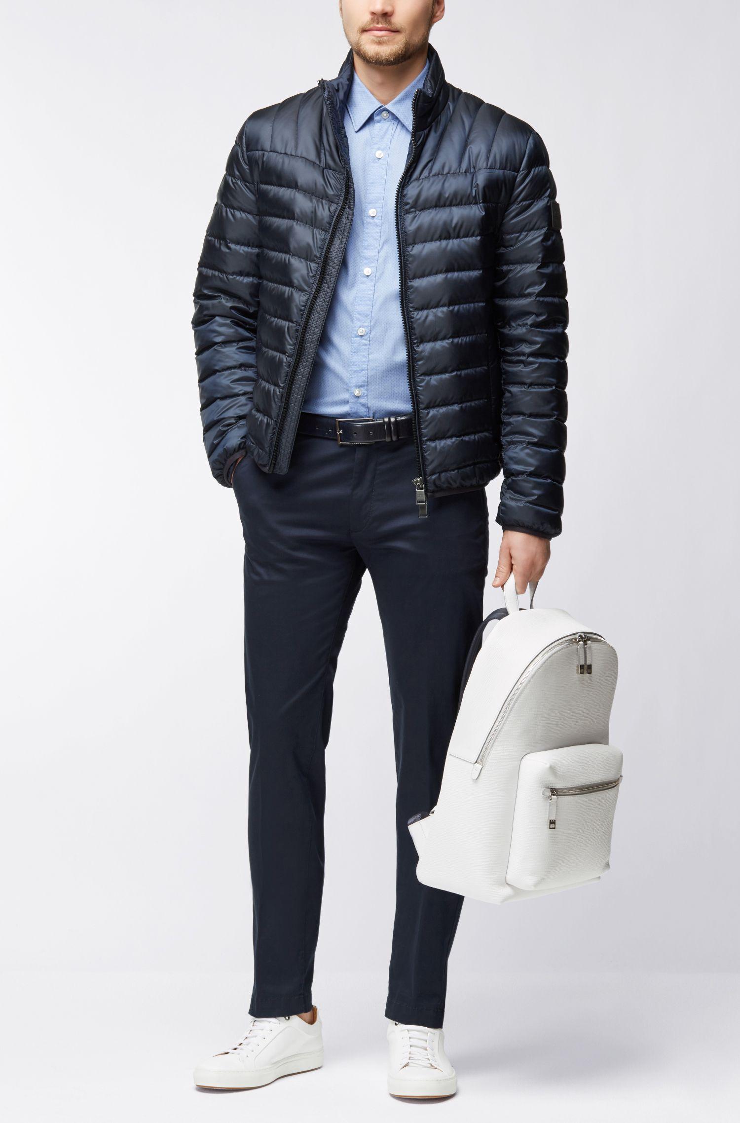 Regular-Fit Kurzarm-Hemd aus Baumwoll-Mix