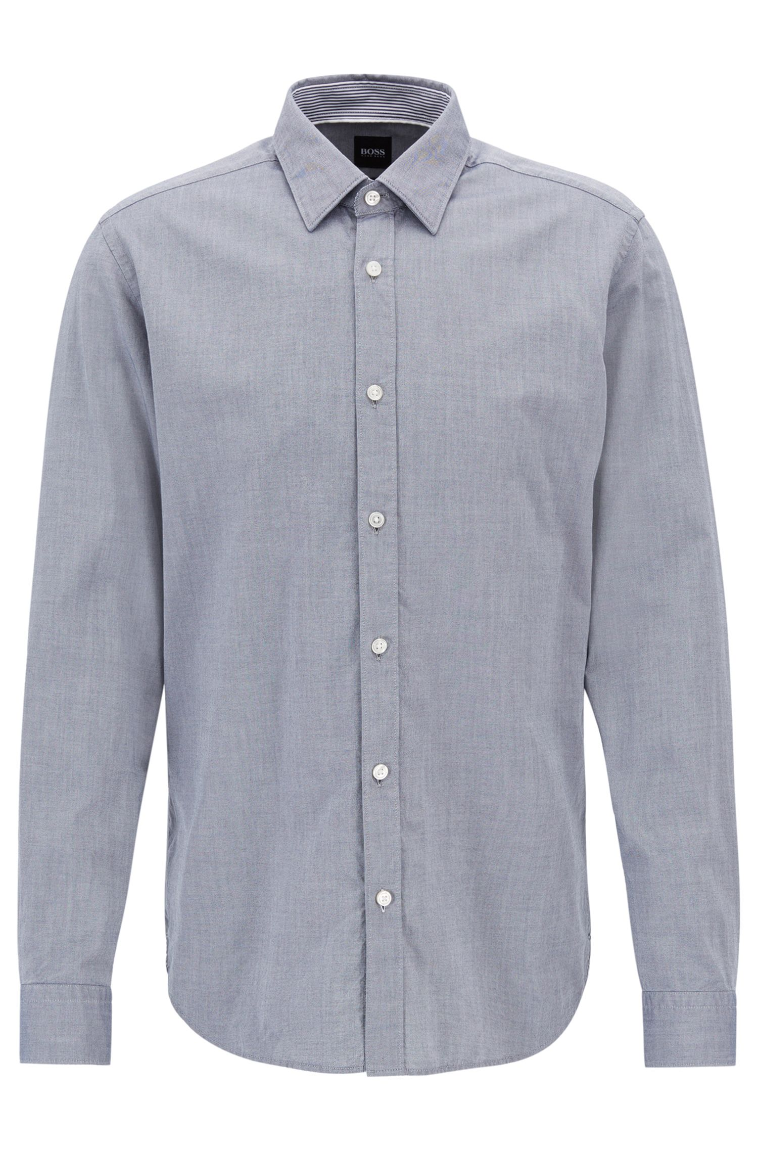 Slim-fit Oxford shirt in mercerised cotton