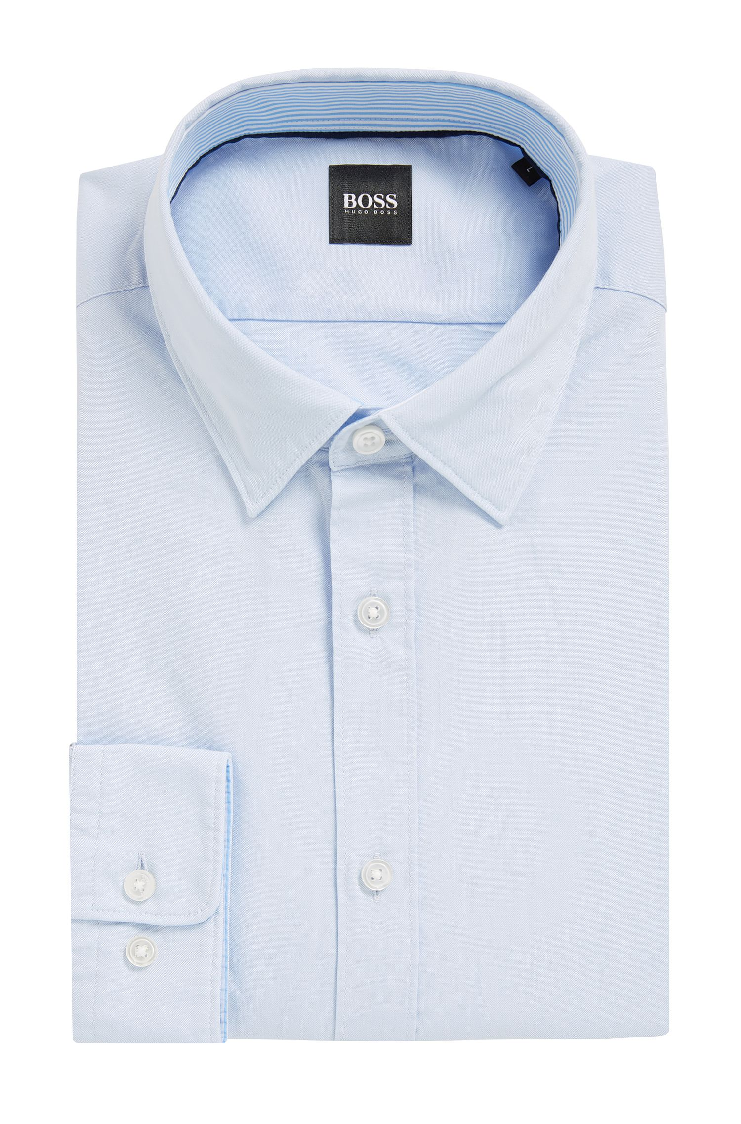 Regular-fit Oxford shirt in mercerised cotton