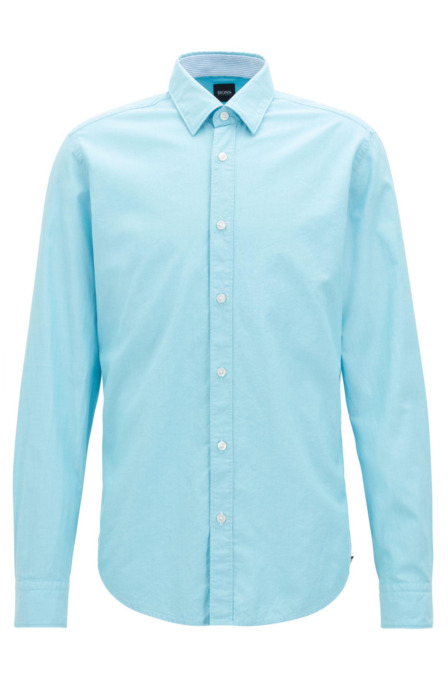 Regular-Fit Oxford-Hemd aus merzerisierter Baumwolle