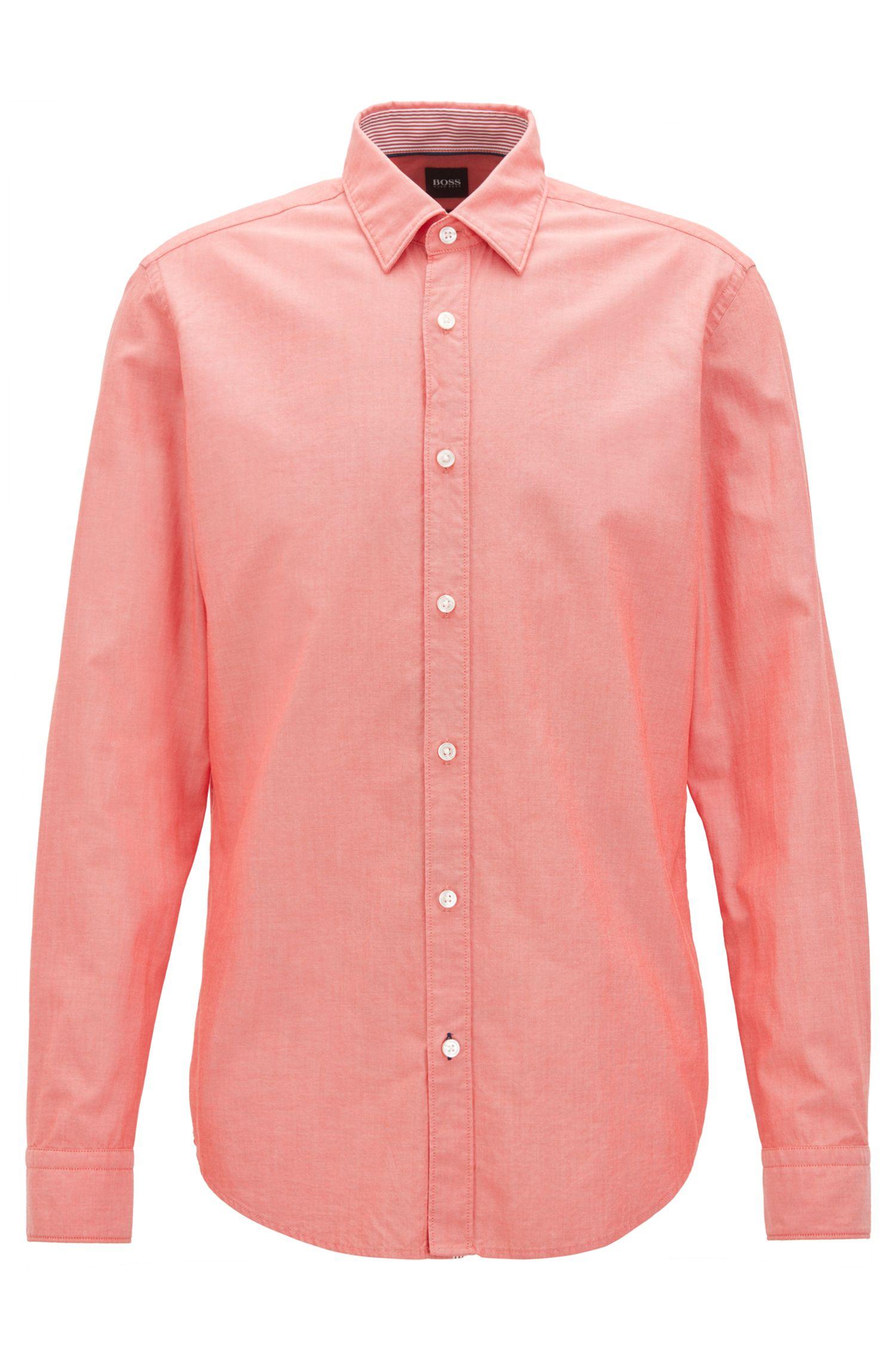 Slim-fit Oxford shirt in mercerised cotton
