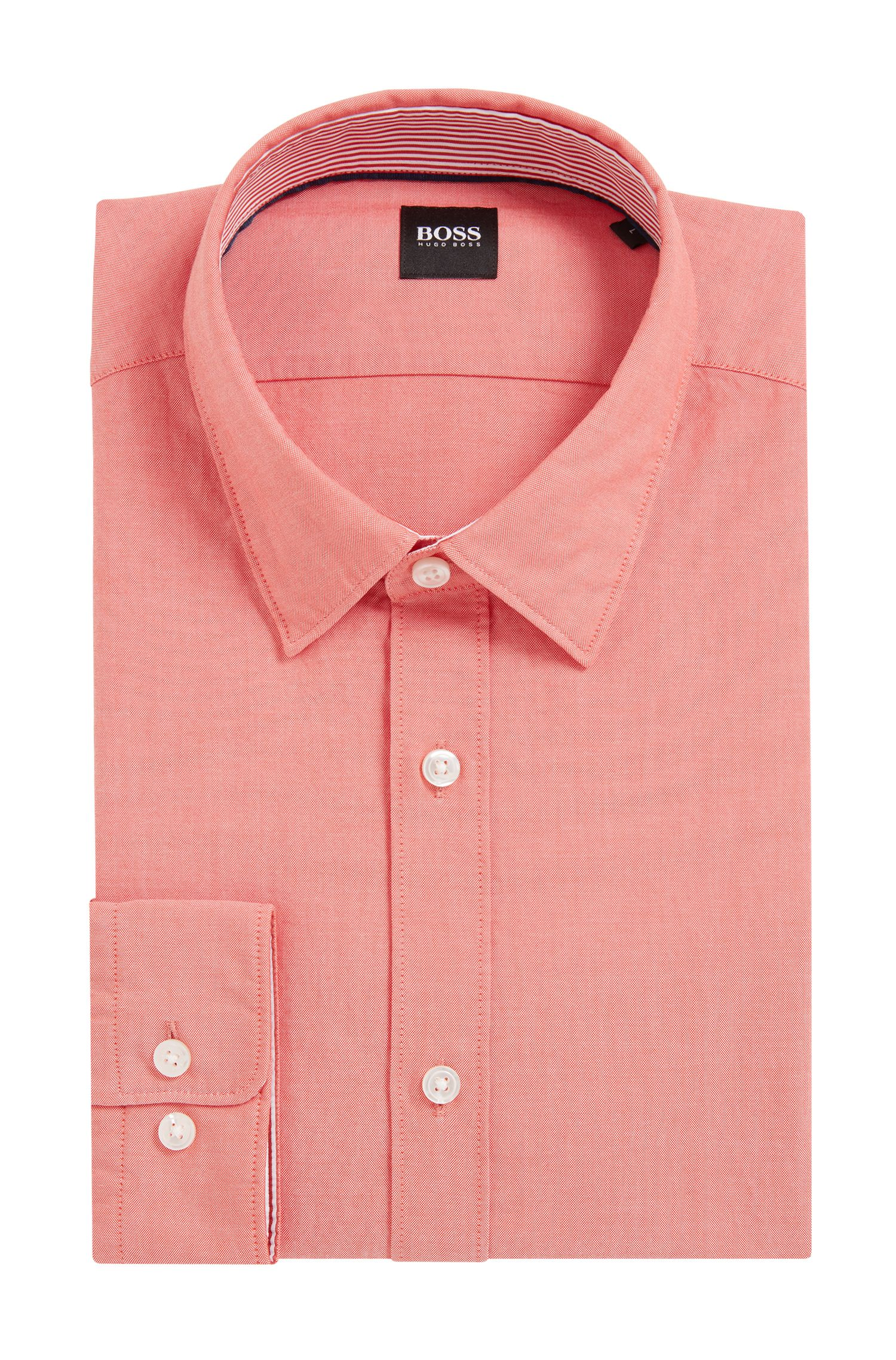 Polo slim fit en algodón Oxford mercerizado
