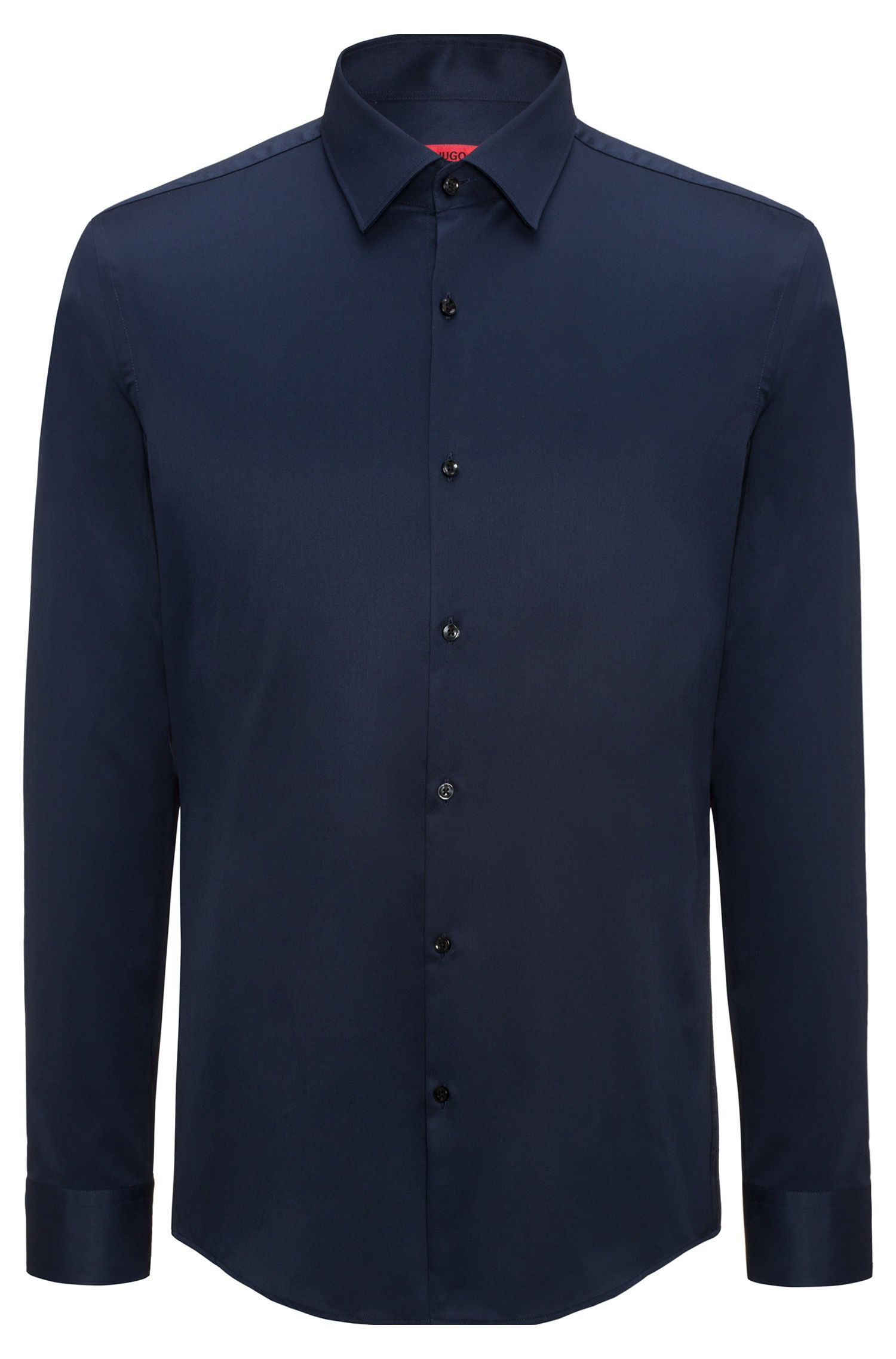 Long-sleeved shirt in cotton twill