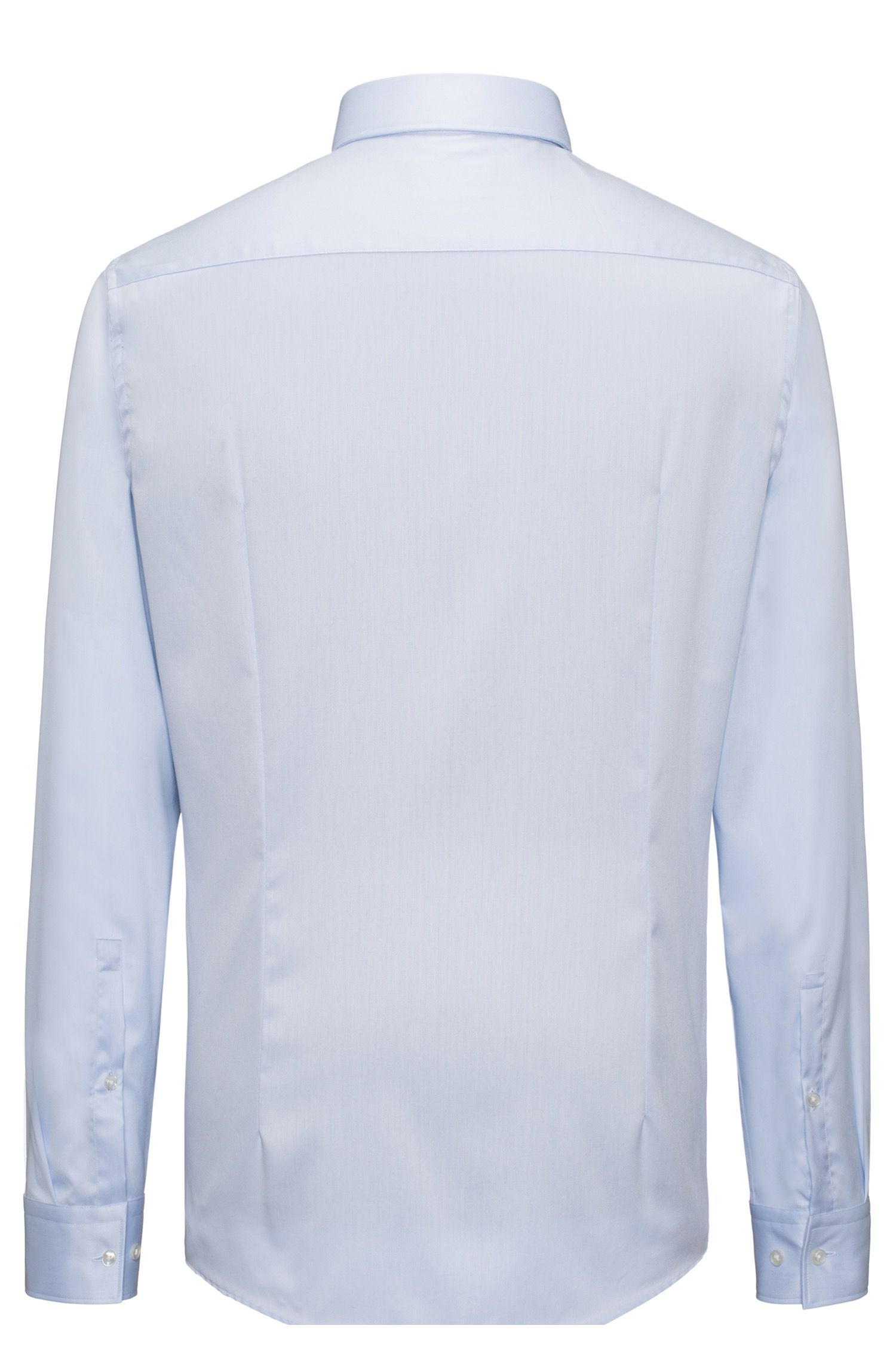 Camicia a maniche lunghe in twill di cotone
