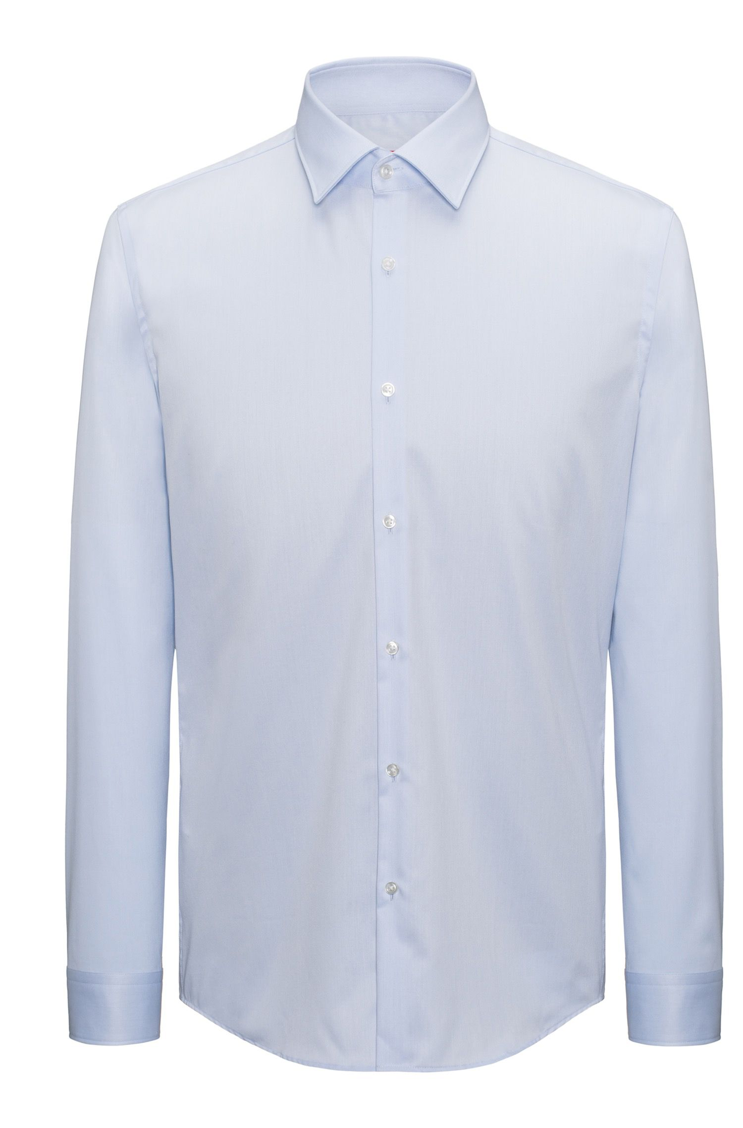 Overhemd in een twill van katoen met lange mouwen