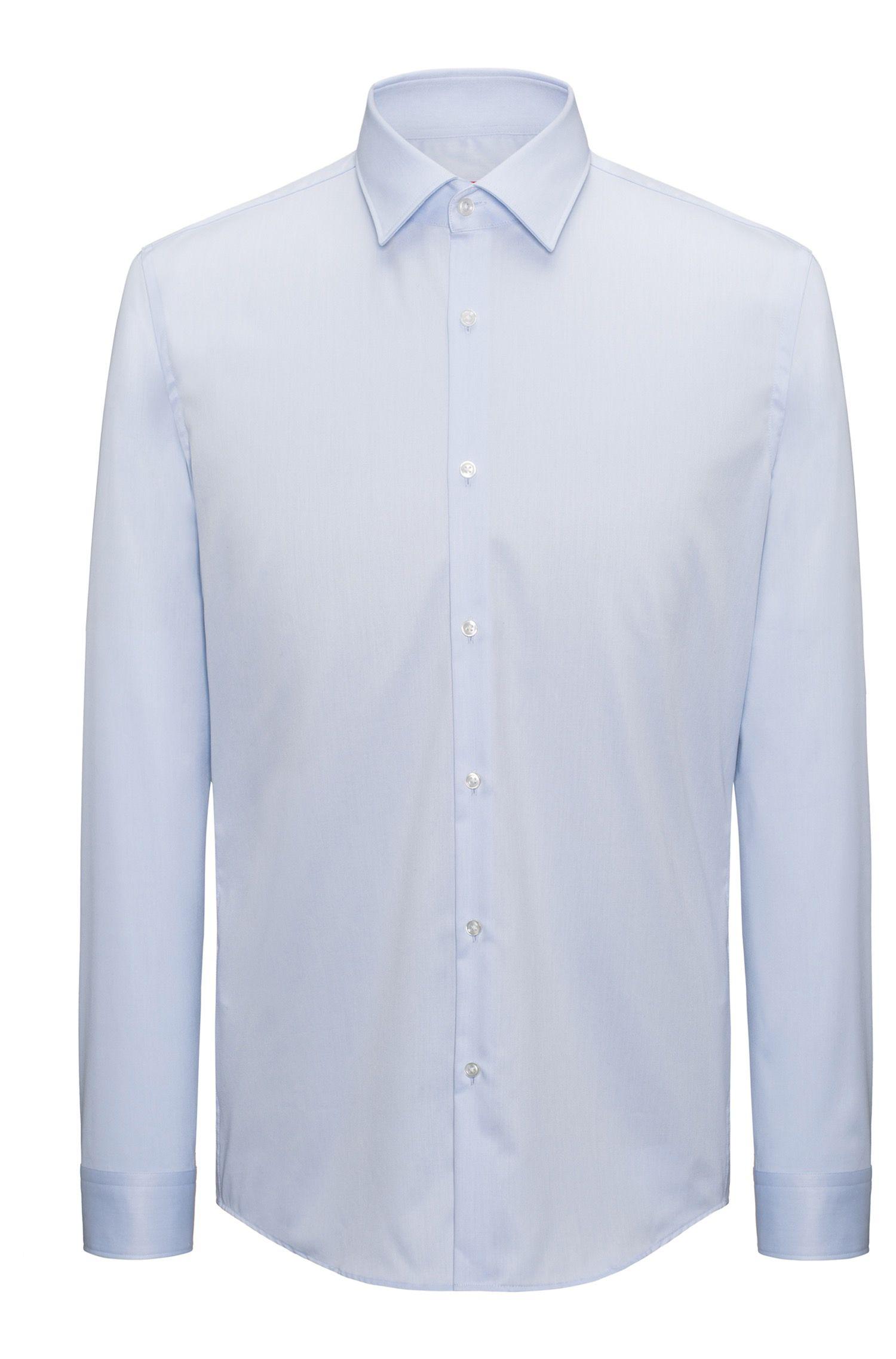 Camisa de manga larga en sarga de algodón
