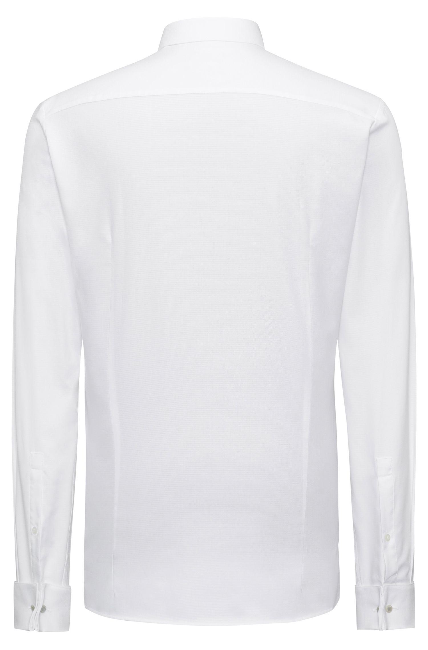 Extra Slim-Fit Hemd aus strukturierter Baumwolle mit Cutaway-Kragen