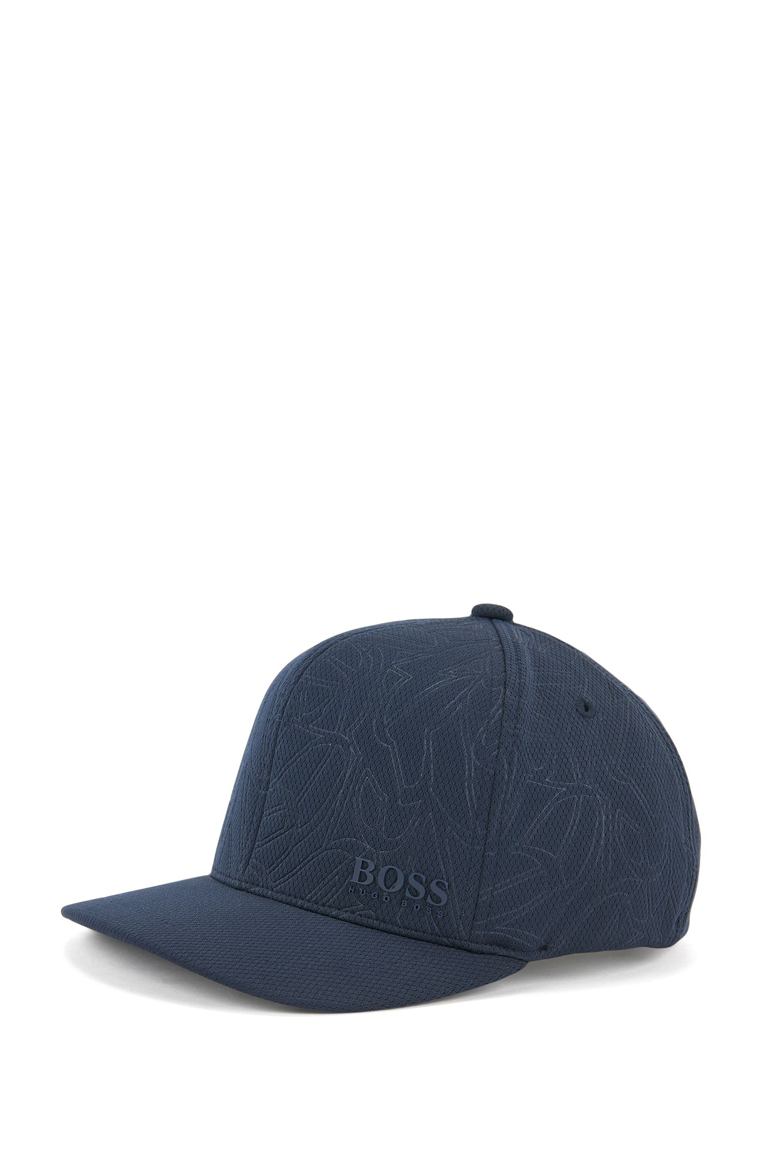 Patterned baseball cap in honeycomb jersey