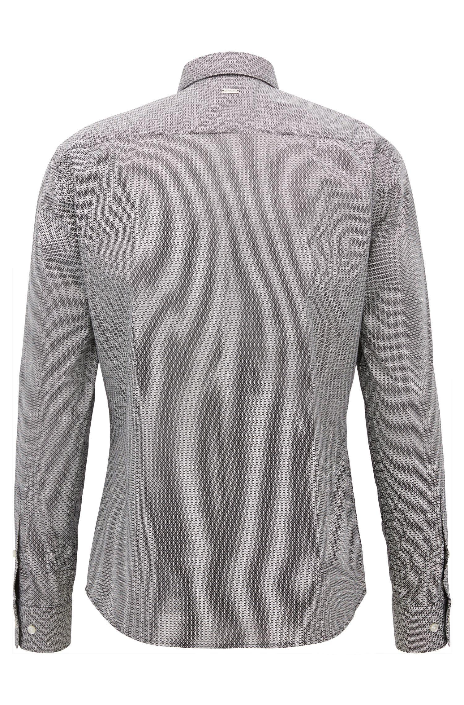 Slim-Fit Mercedes-Benz Hemd aus elastischer Baumwolle