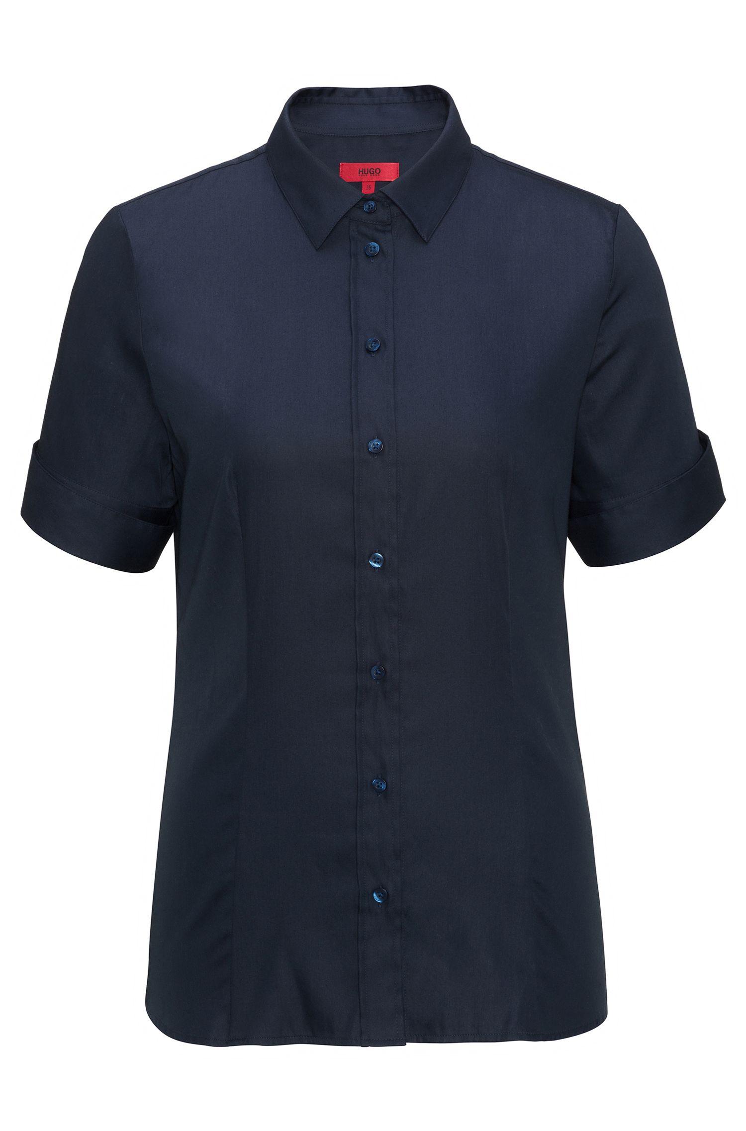 Slim-Fit Hemd aus garngefärbtem Baumwoll-Mix