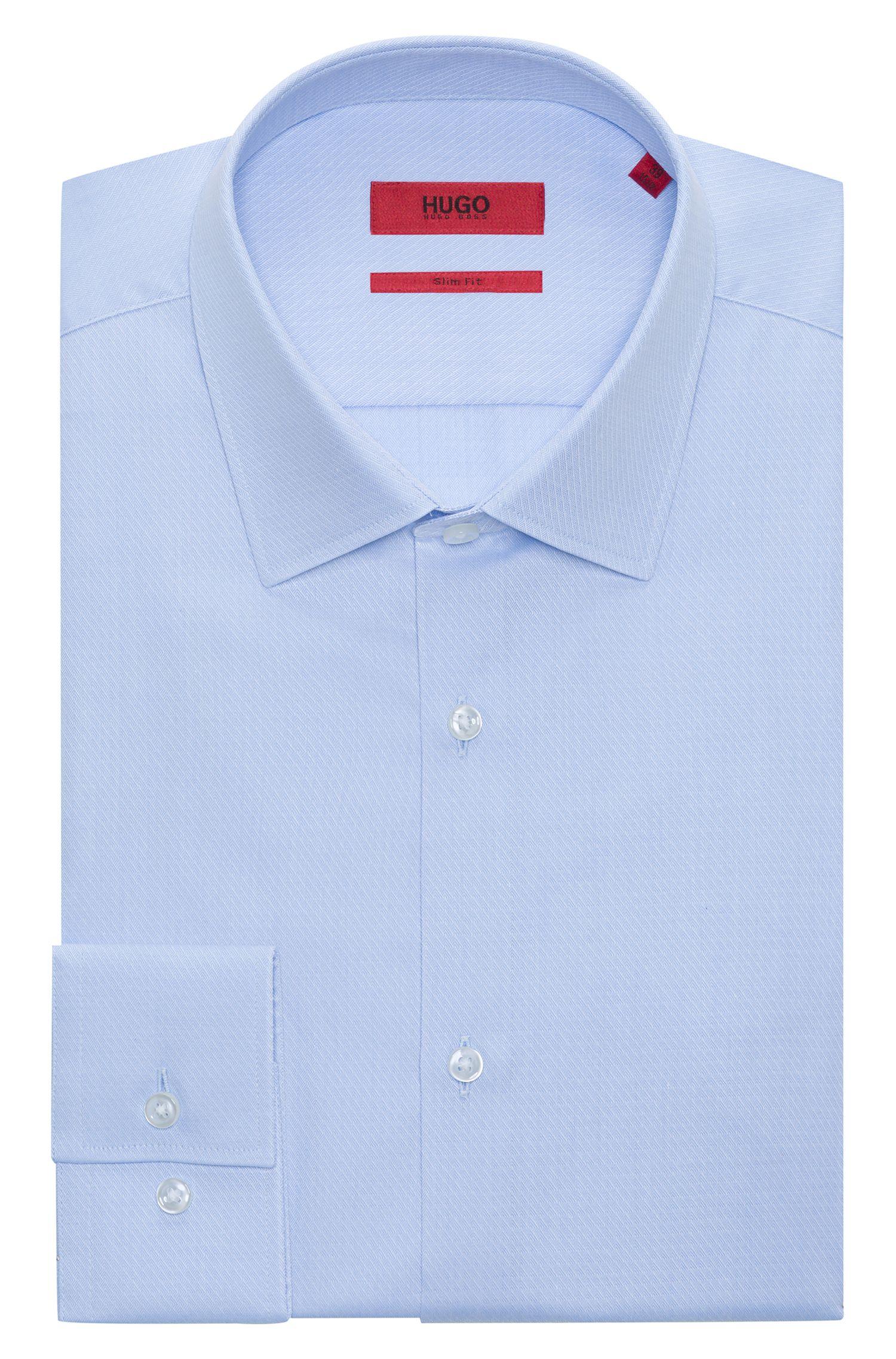 Fein gemustertes Slim-Fit Hemd aus Baumwolle