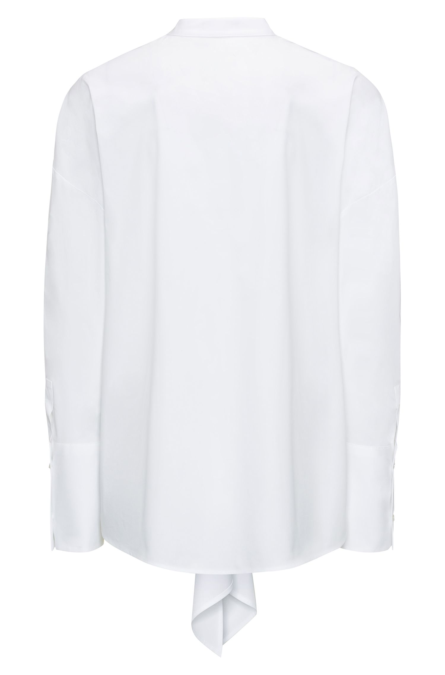 Oversized Bluse aus Stretch-Popeline