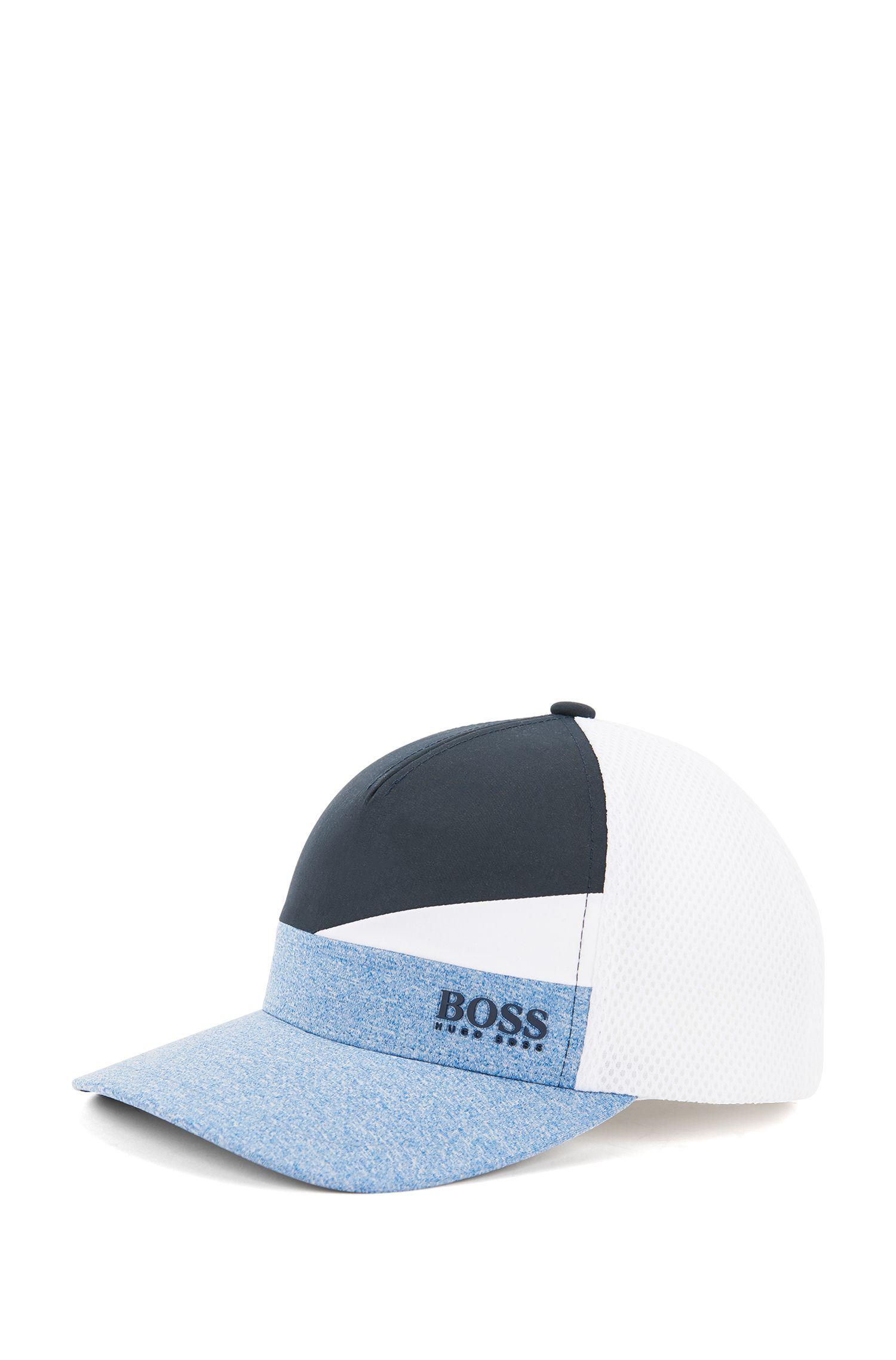 Baseball Cap in Colour-Block-Optik aus elastischem Material-Mix