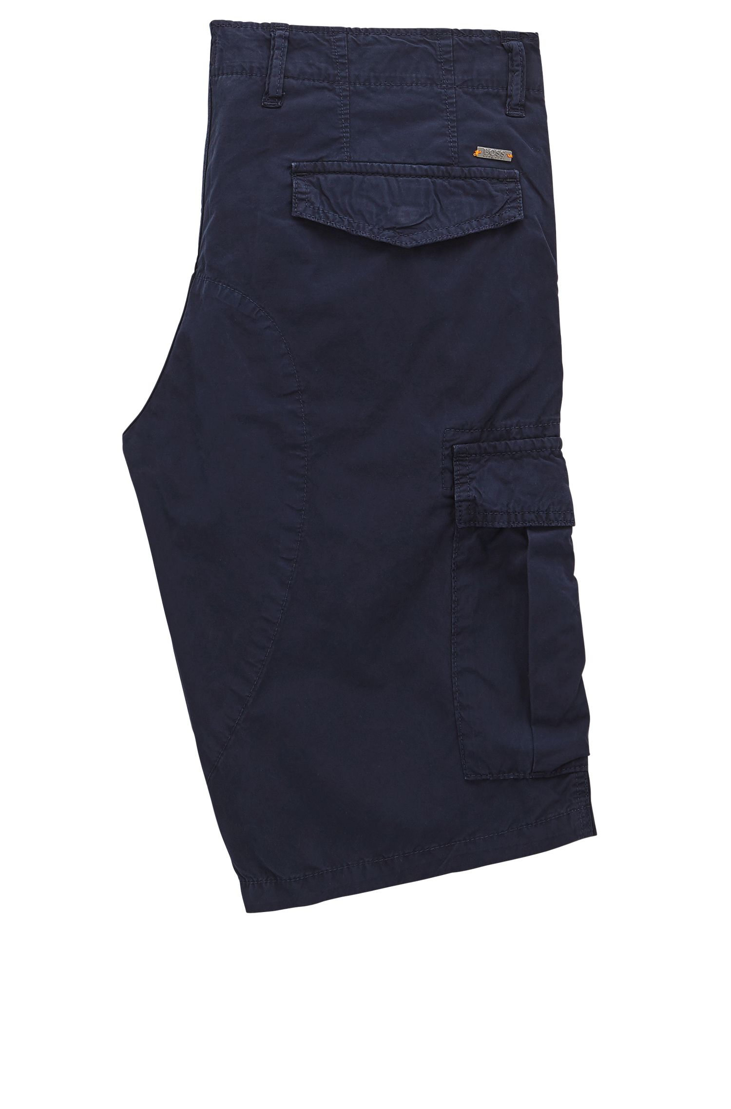 Tapered-Fit Shorts aus zweifach gefärbter Baumwoll-Popeline