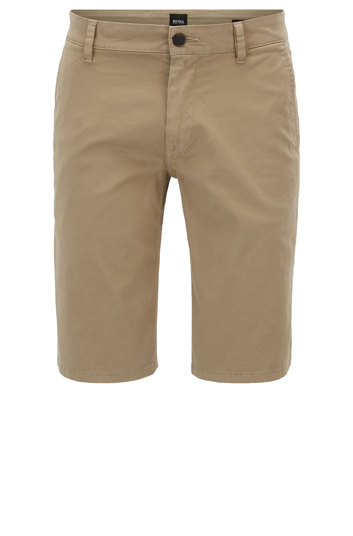 Short chino en coton stretch