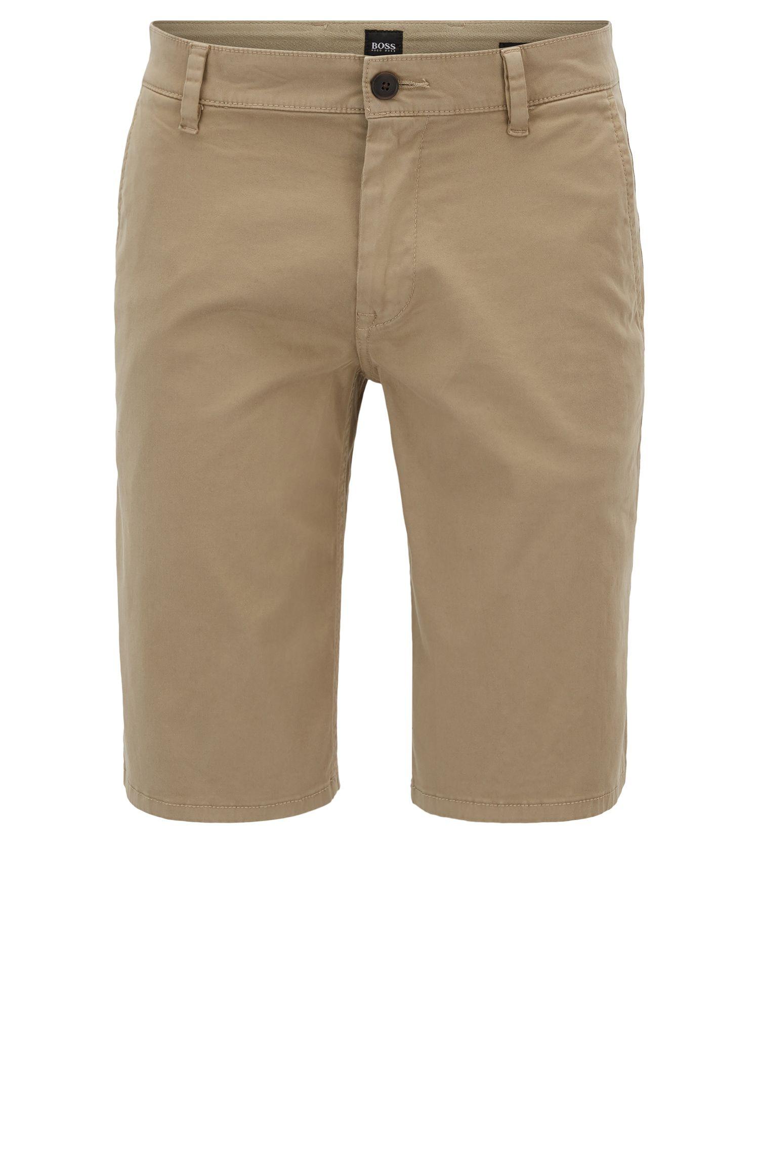 Regular-Fit Chino-Shorts aus elastischer Baumwolle