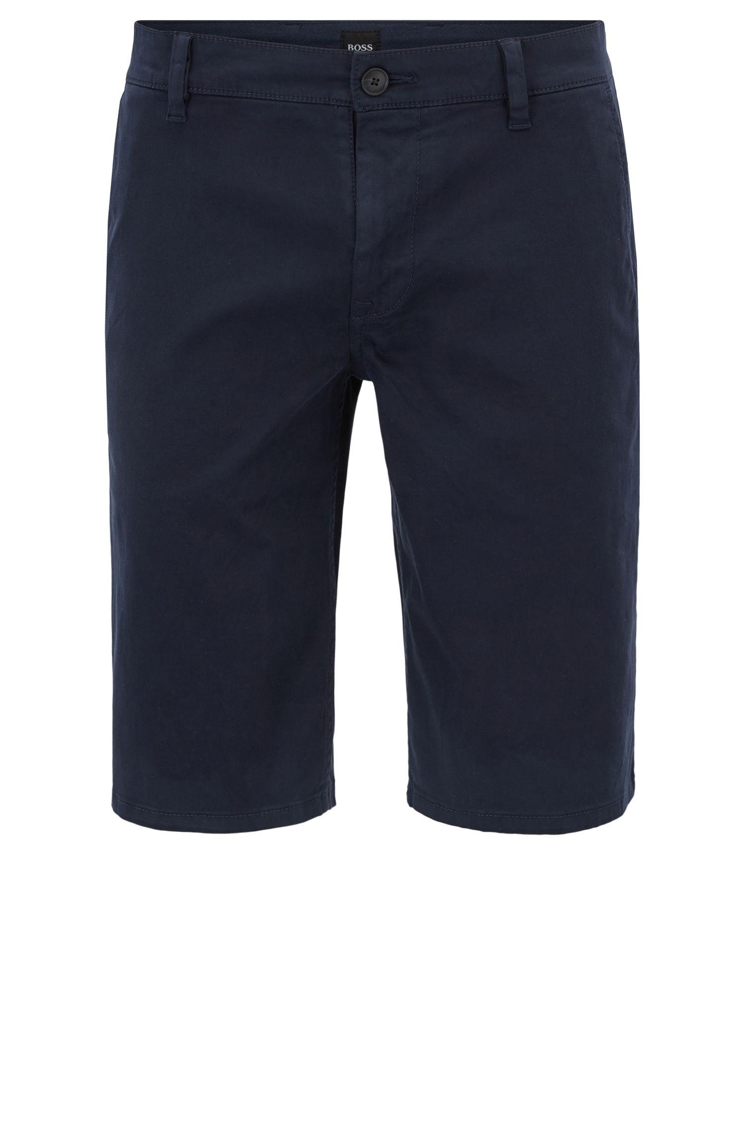 Shorts estilo chino en algodón elástico