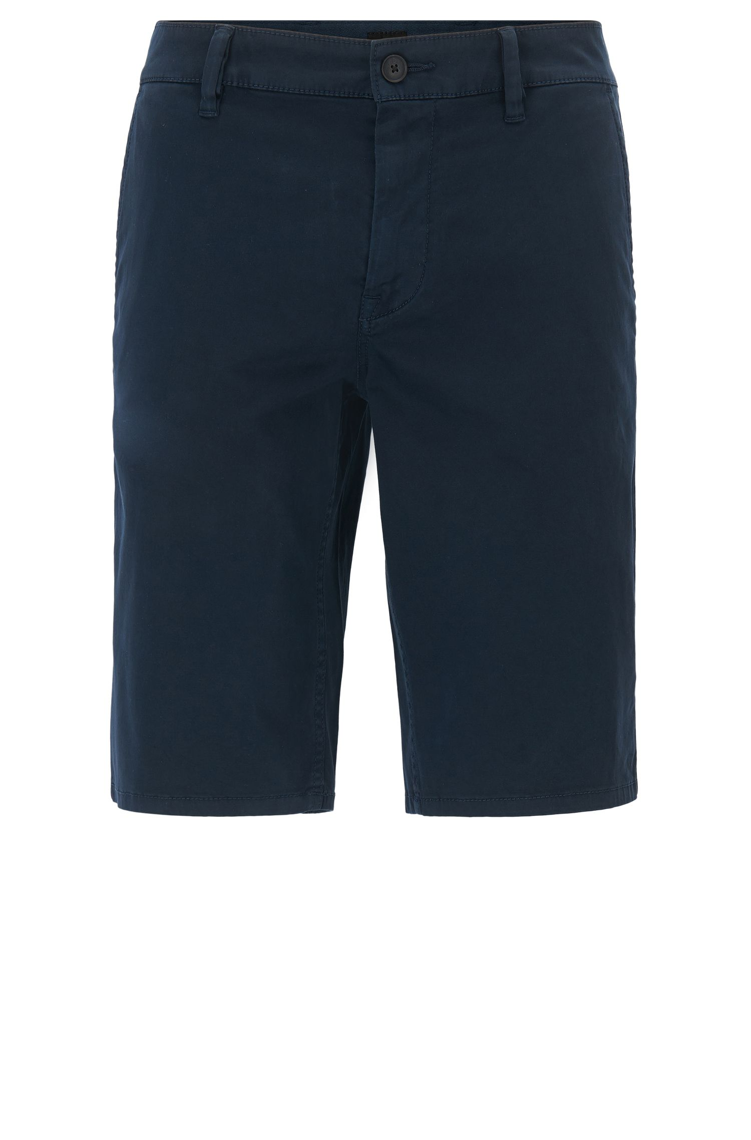 Pantaloncini chino in cotone elasticizzato con passanti doppi