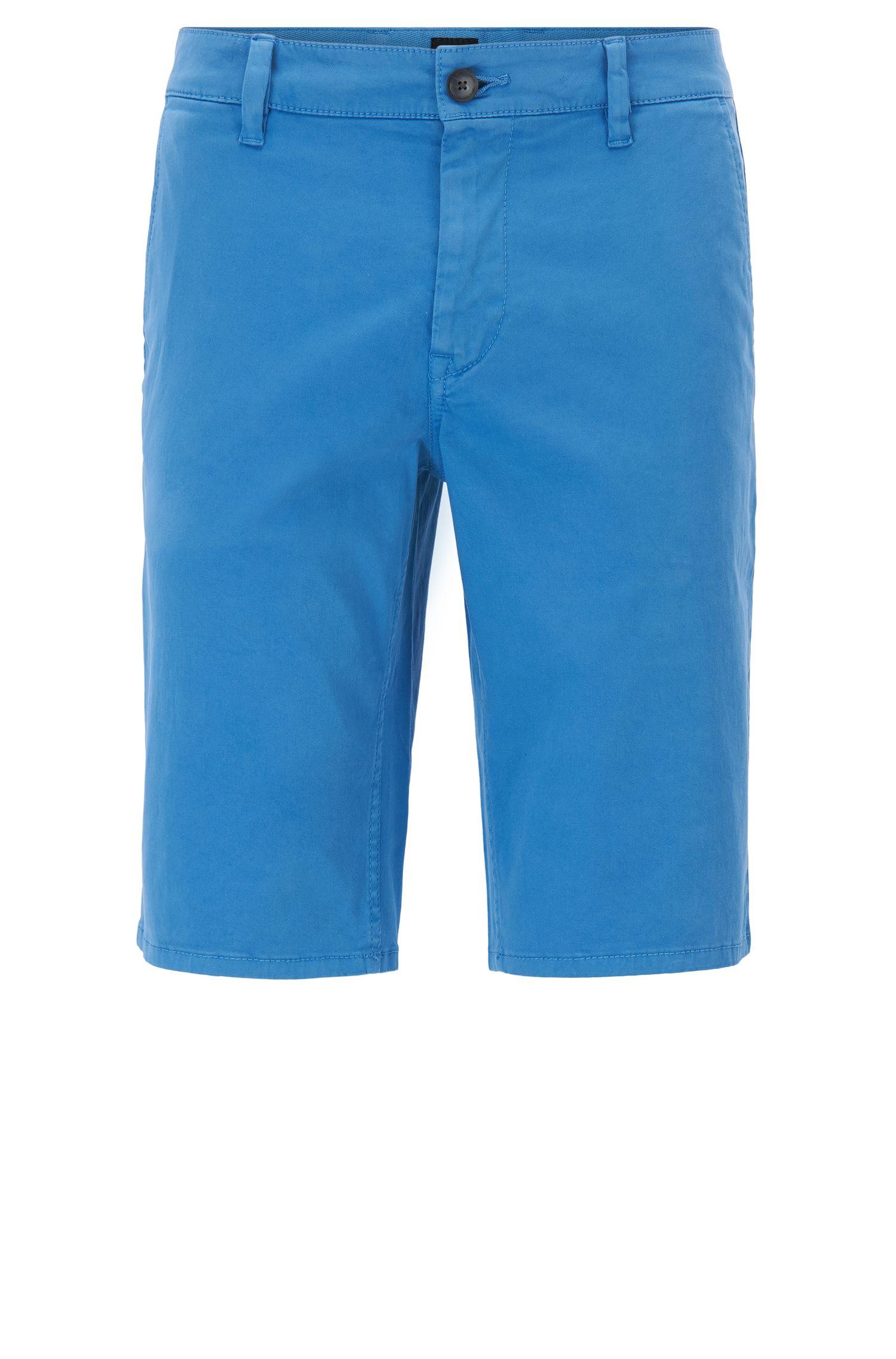 Shorts chinos de algodón elástico con trabillas dobles