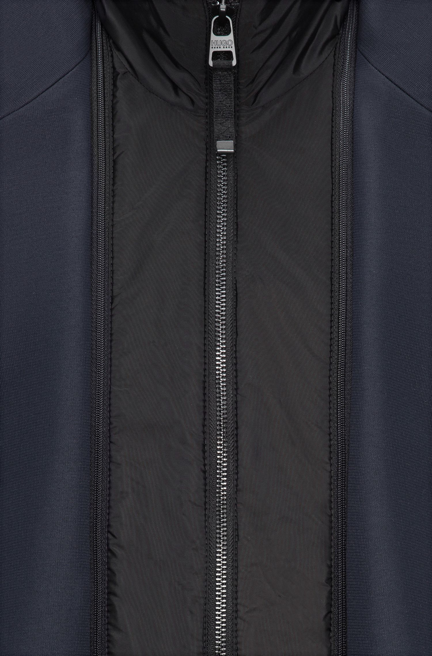 Slim-fit jacket in water-repellent technical fabric