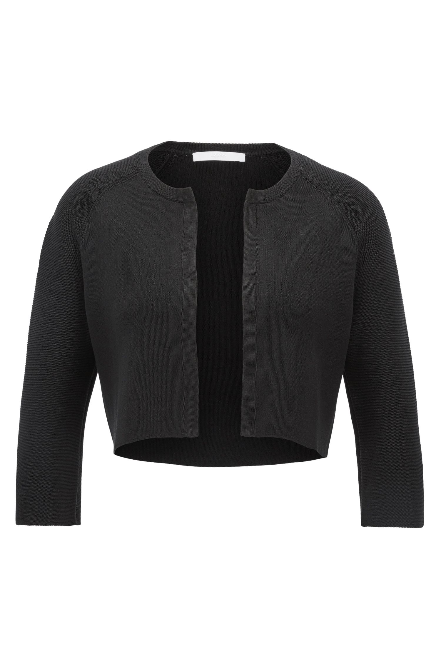 Edge-to-edge knitted jacket