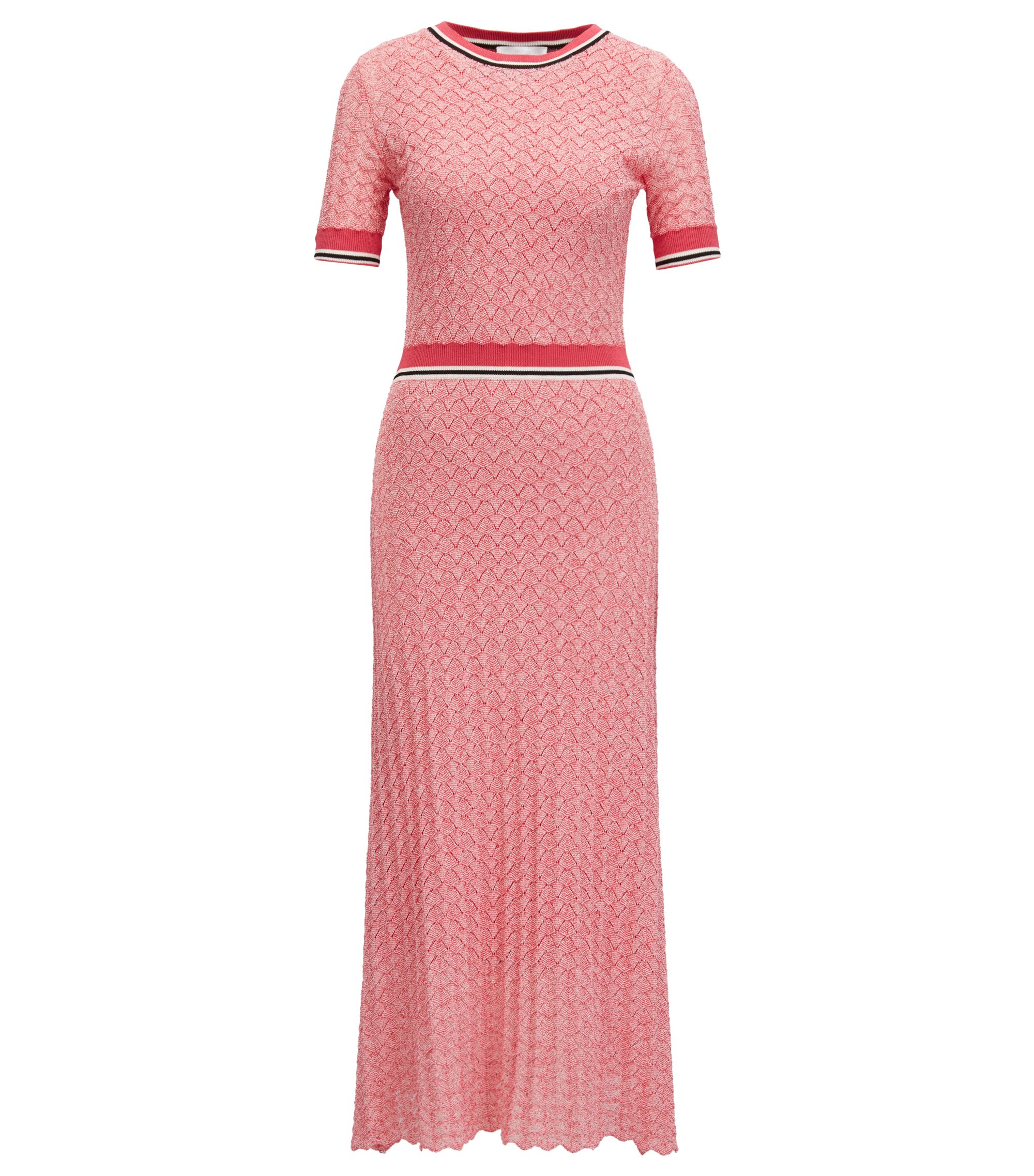 Bouclé dress with A-line skirt, Patterned