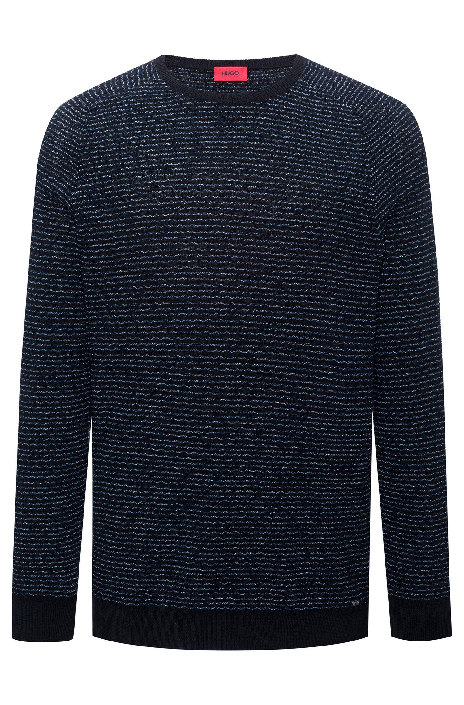 Baumwoll-Pullover mit Seersucker-Struktur