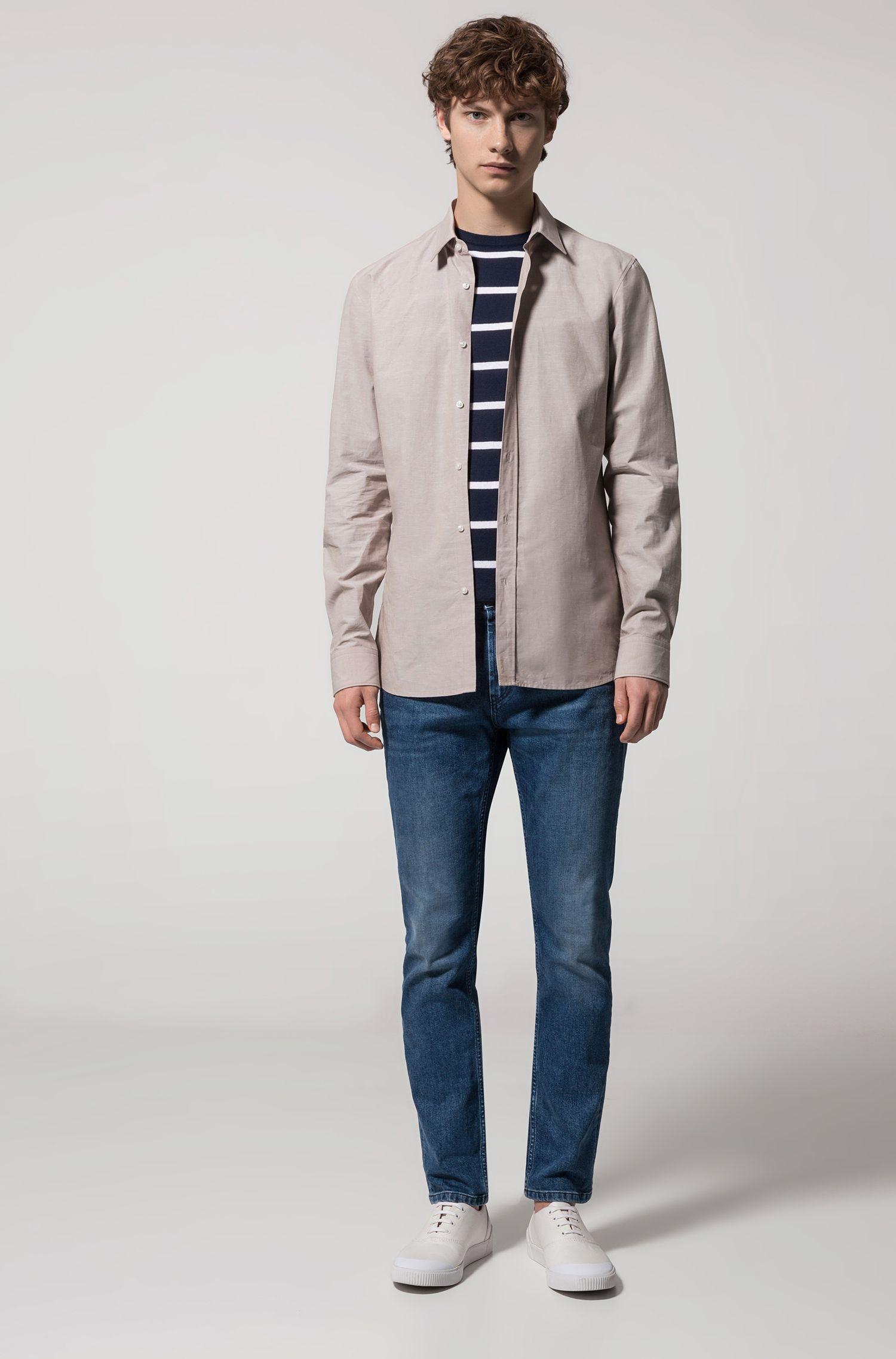Gestreifter Pullover aus leichter Baumwolle