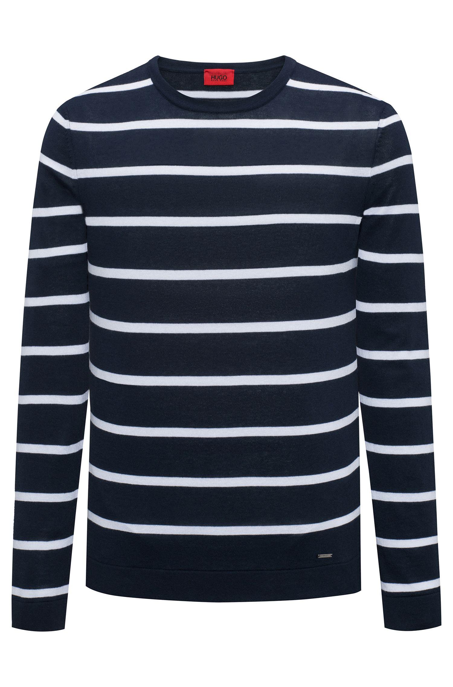 Striped sweater in lightweight cotton