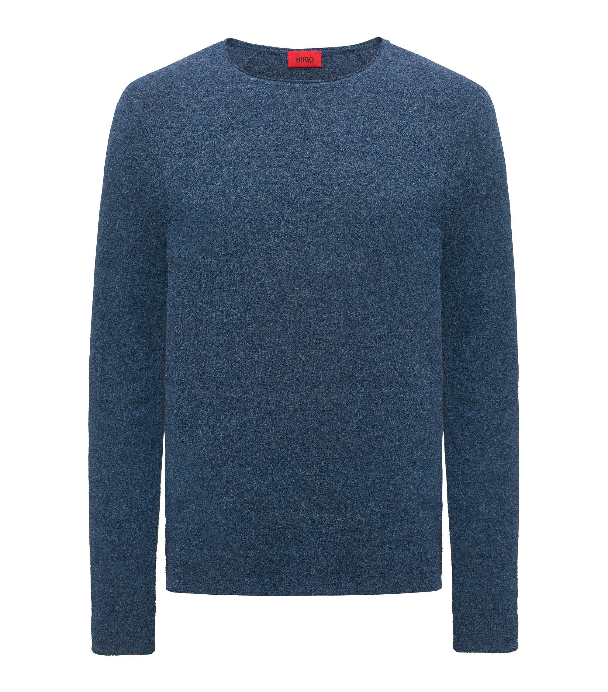 Strukturierter Pullover aus Baumwoll-Mix, Blau