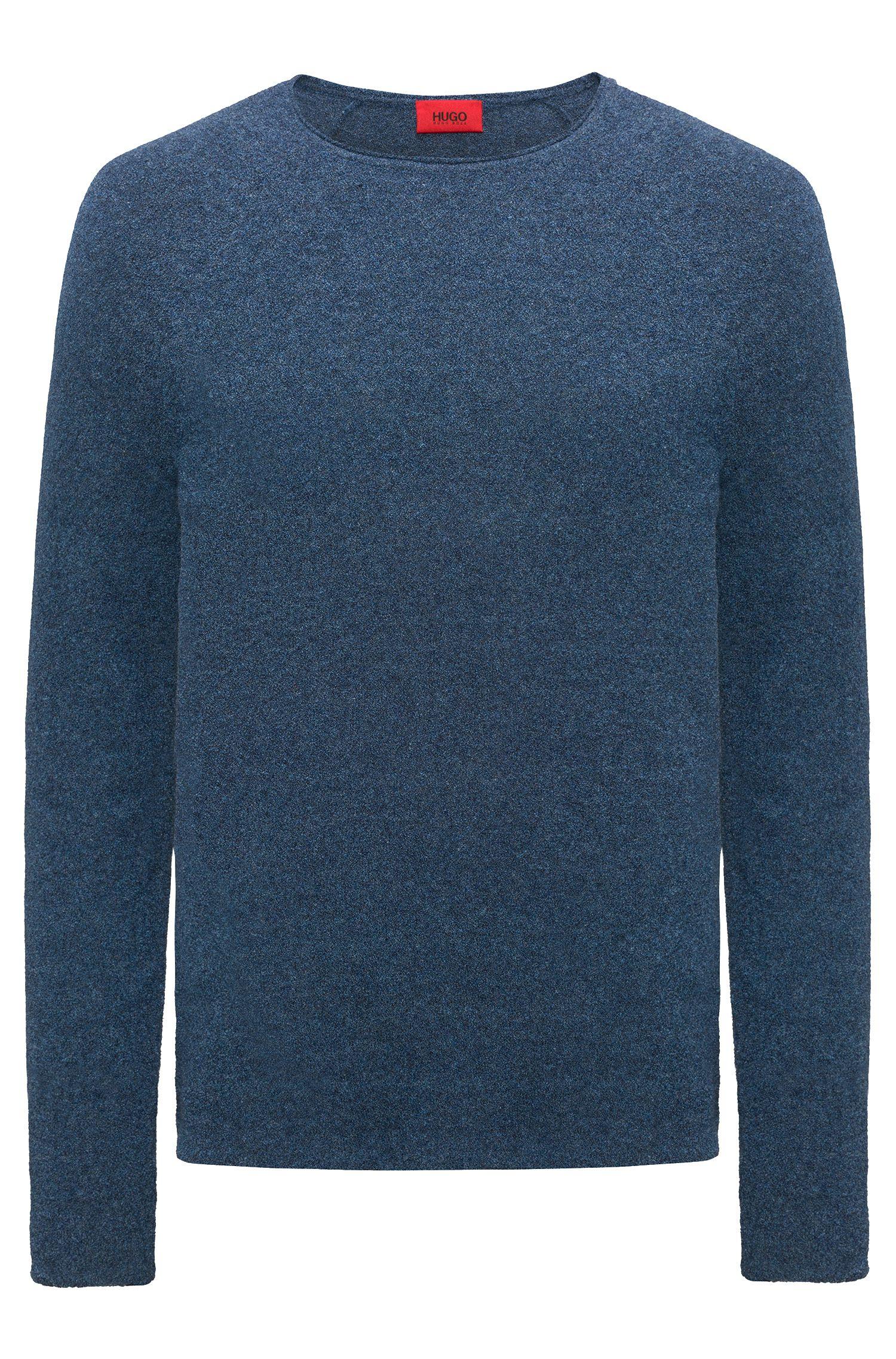 Maglione in misto cotone con lavorazione terry