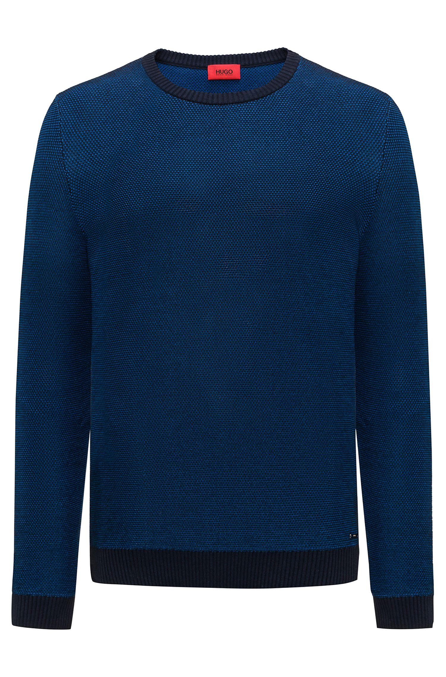 Jersey de cuello redondo en piqué de algodón de punto