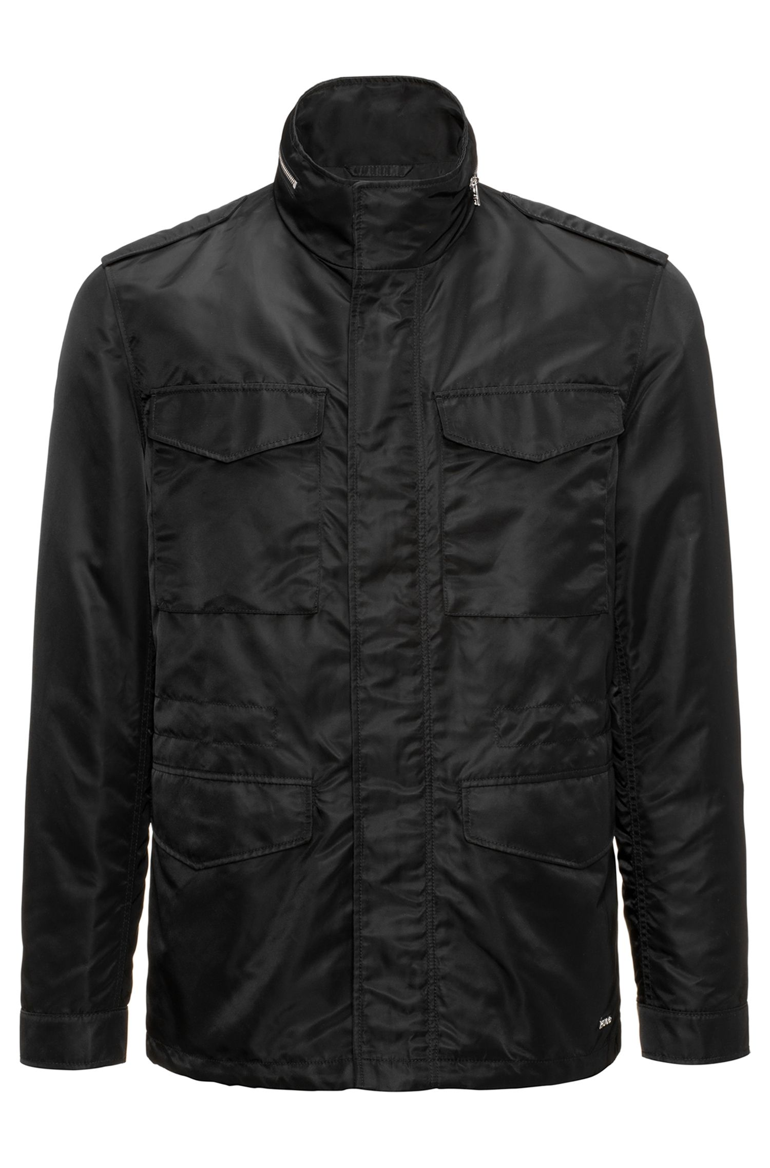 Field jacket in technical fabric with Teflon™ finish