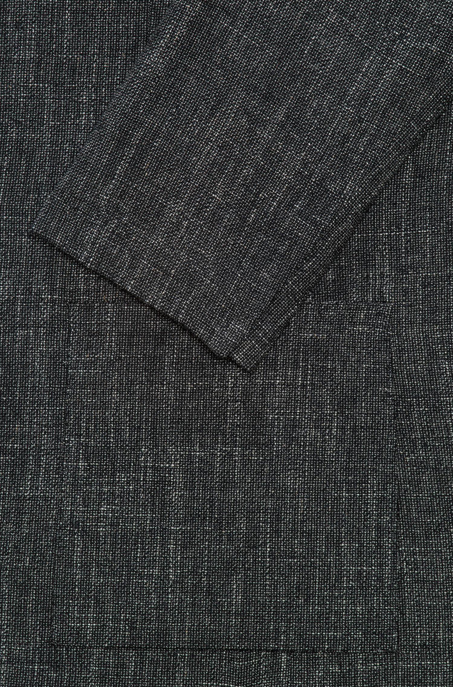 Blazer slim fit de arpillera en mezcla de lana virgen