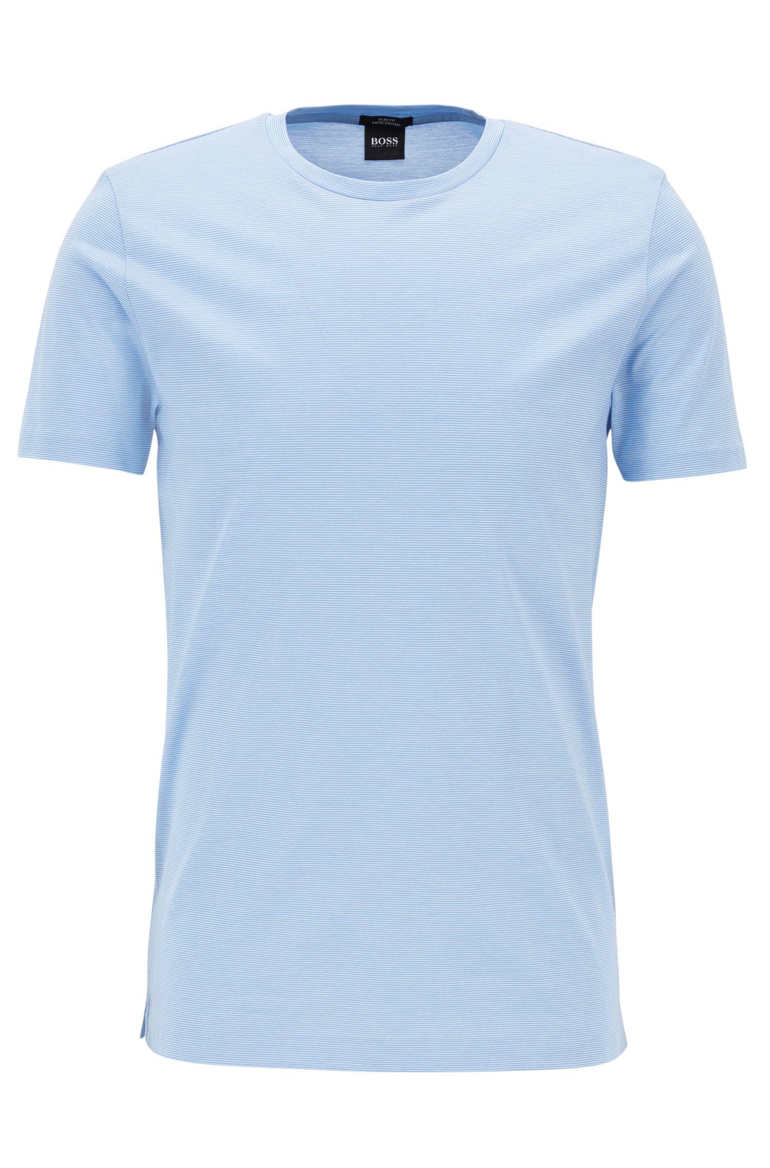 T-shirt slim fit in cotone mercerizzato