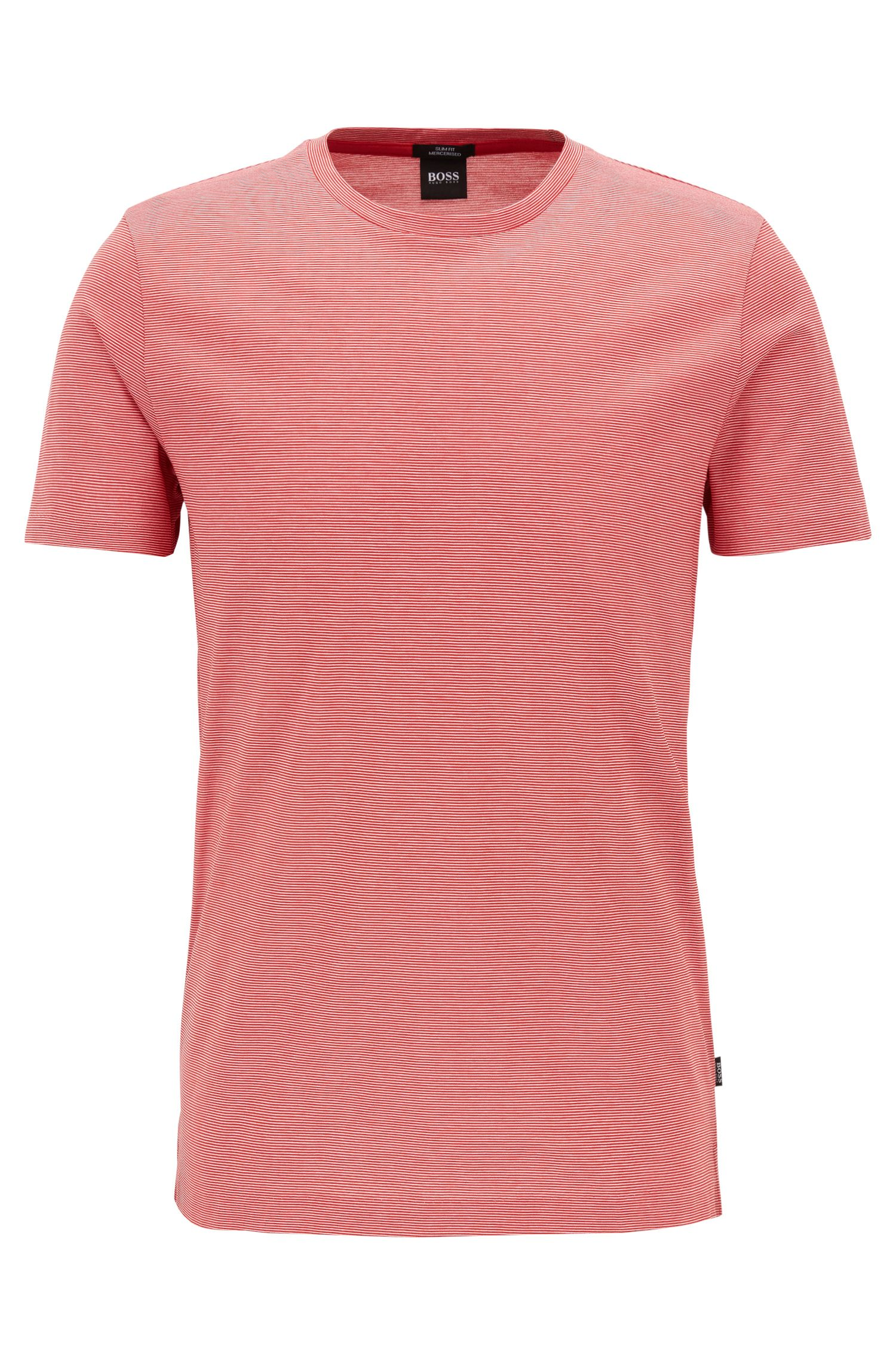 Slim-fit T-shirt van gemerceriseerde katoen