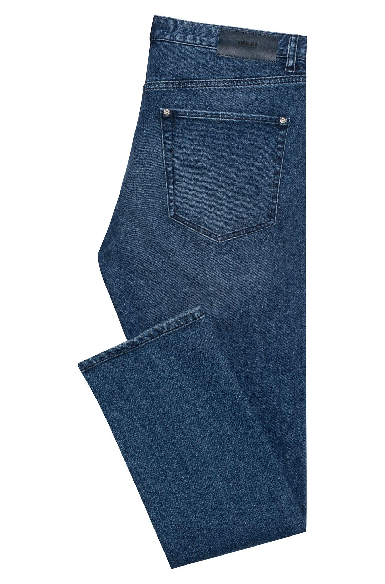 Jean Regular Fit en denim stretch bleu foncé