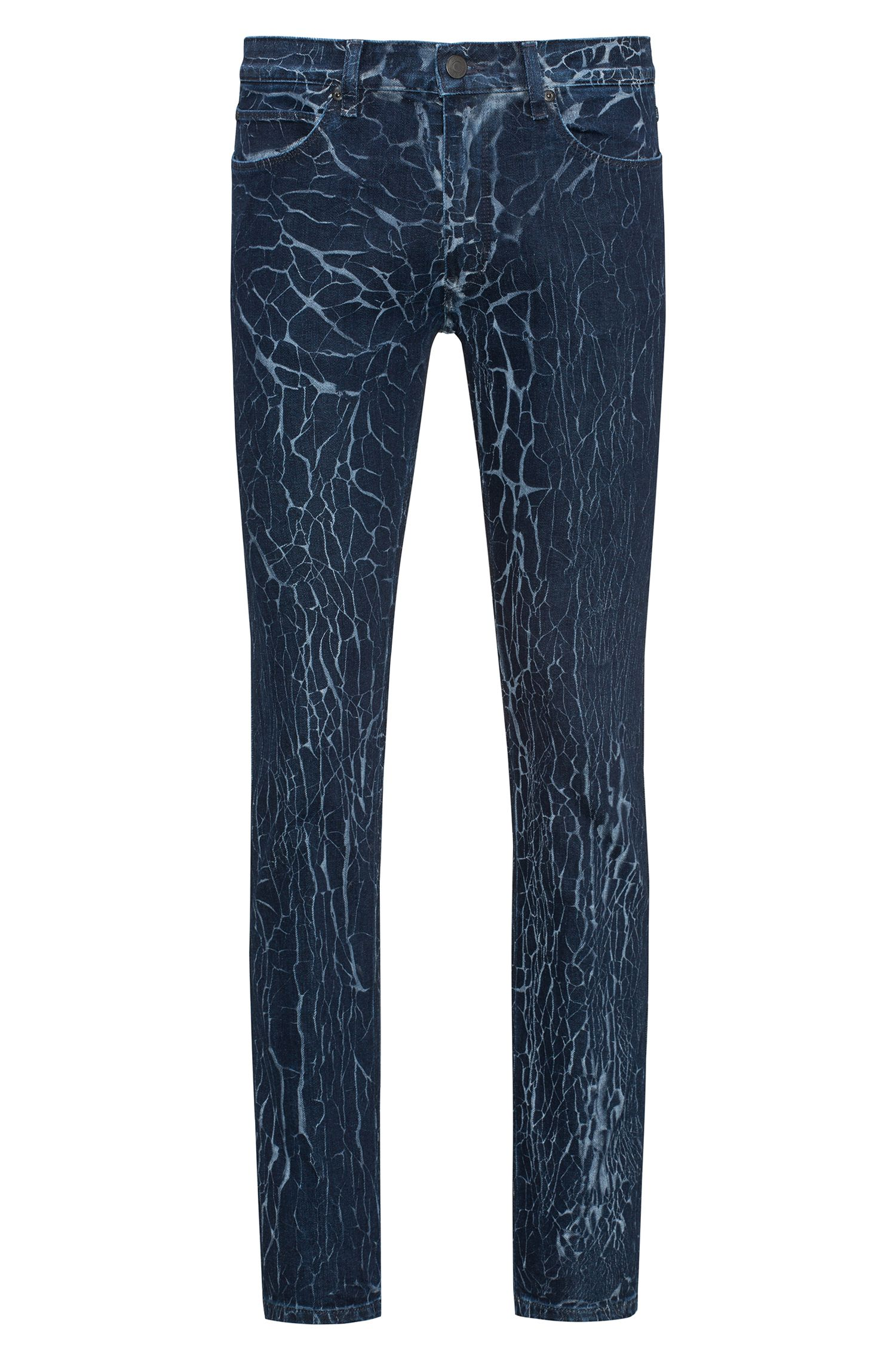 Jean Skinny Fit en denim stretch à effet craquelé
