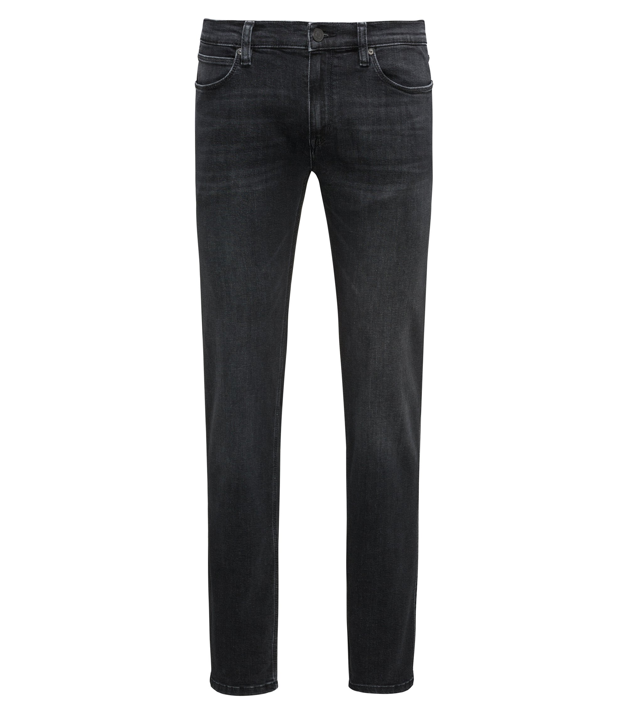 Jean taille basse Slim Fit en denim stretch, Gris sombre