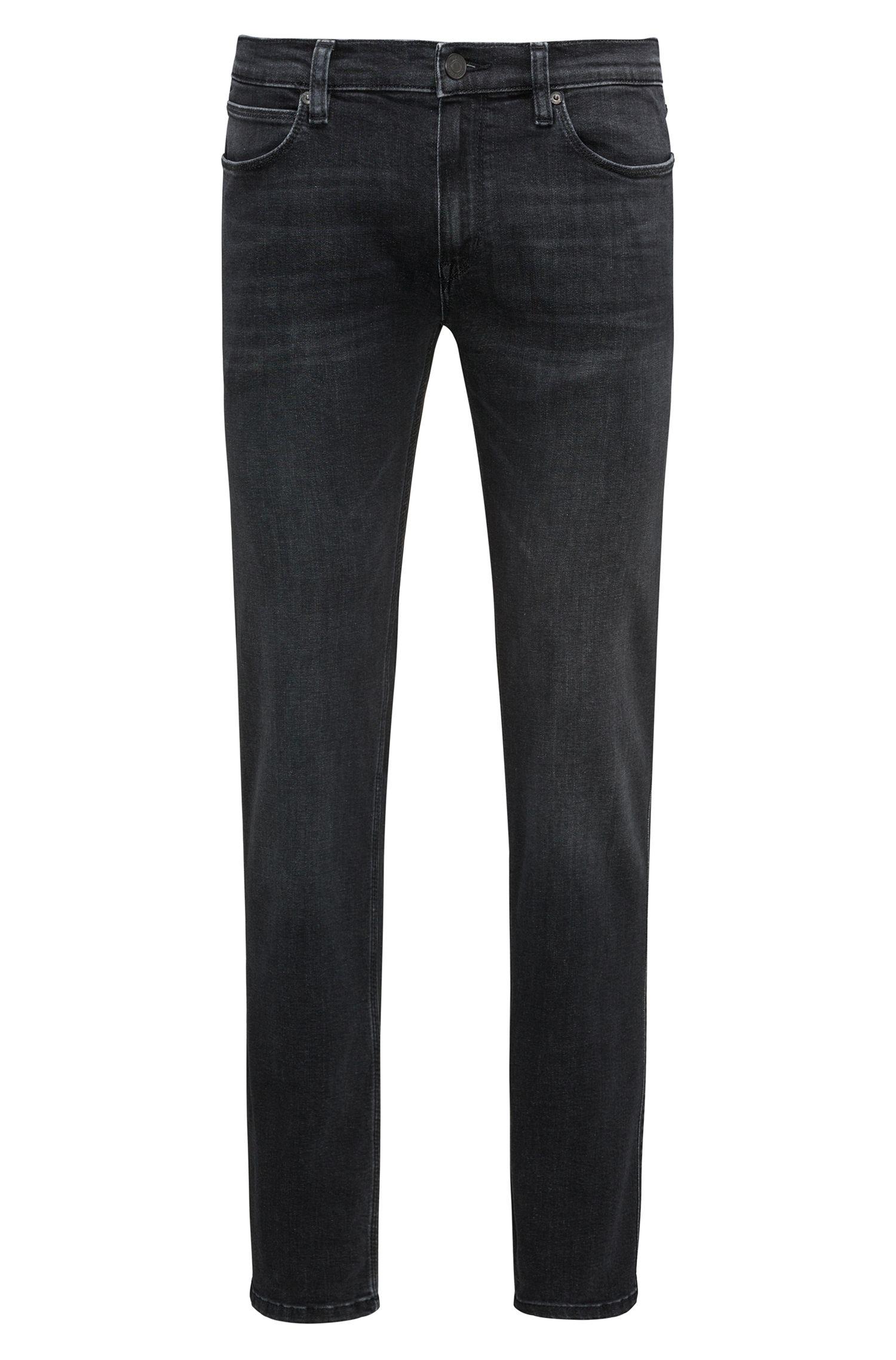Slim-fit jeans van stretchdenim met lage taille