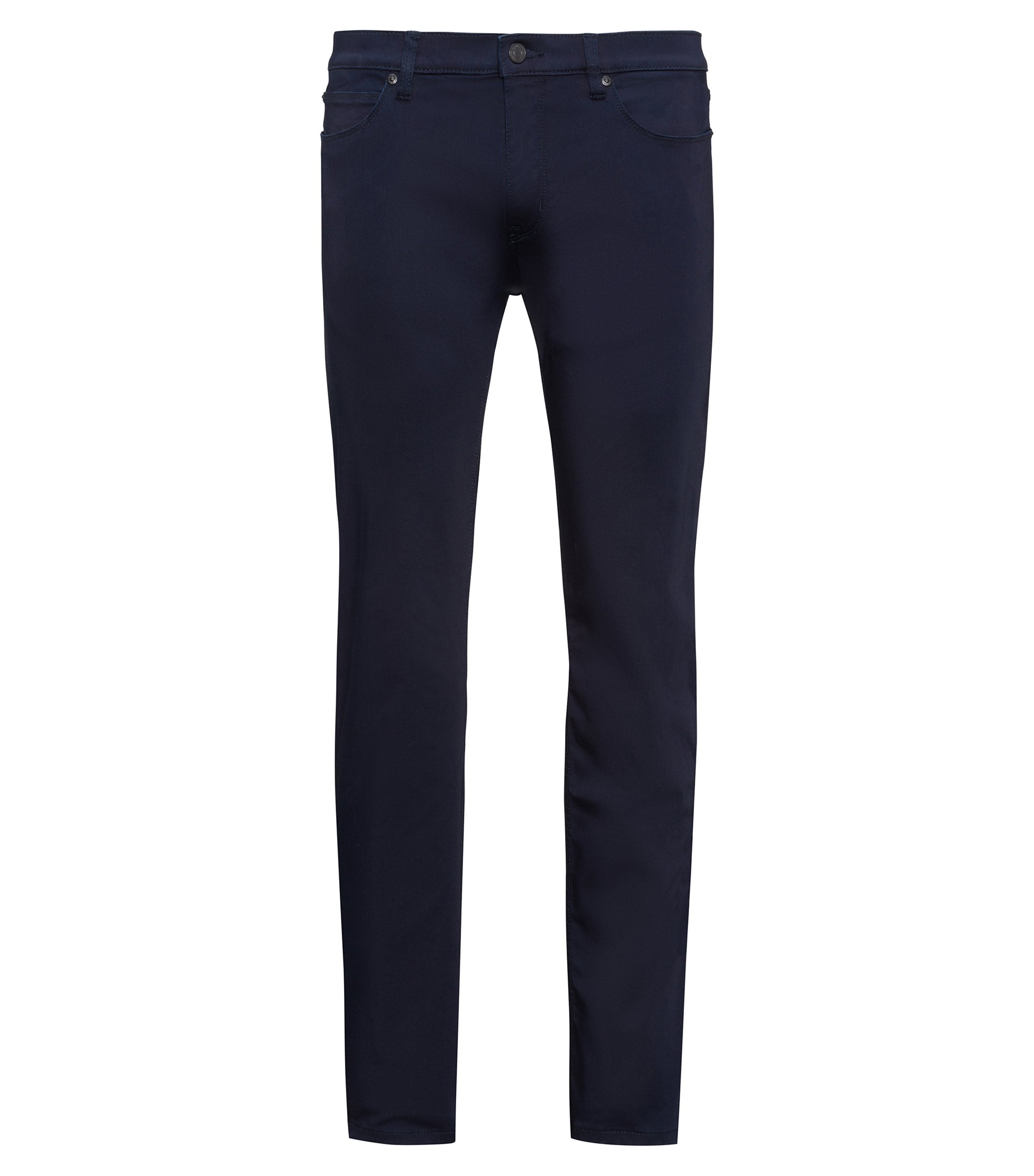 Jeans slim fit in denim elasticizzato blu scuro, Blu scuro